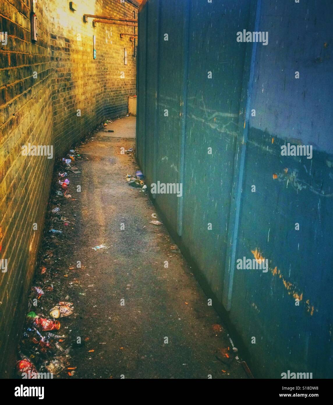 A back street alleyway - Stock Image
