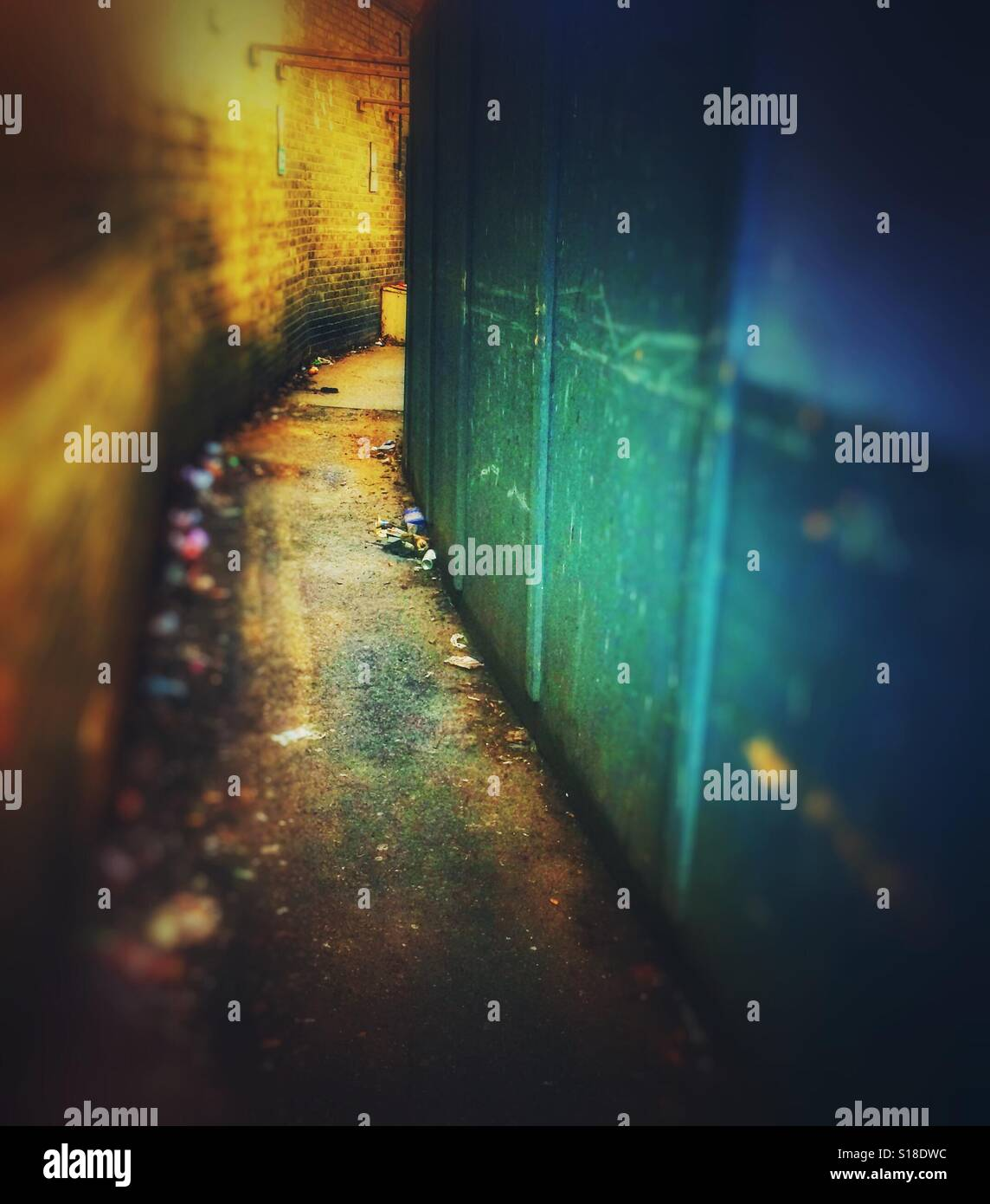 A back street alley - Stock Image