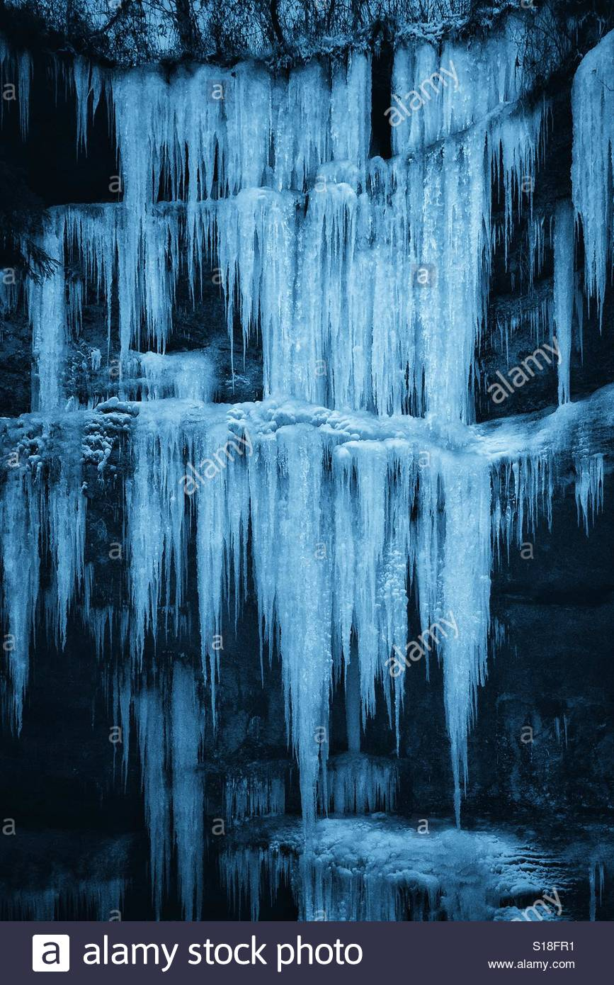 Icy winter blues - Stock Image