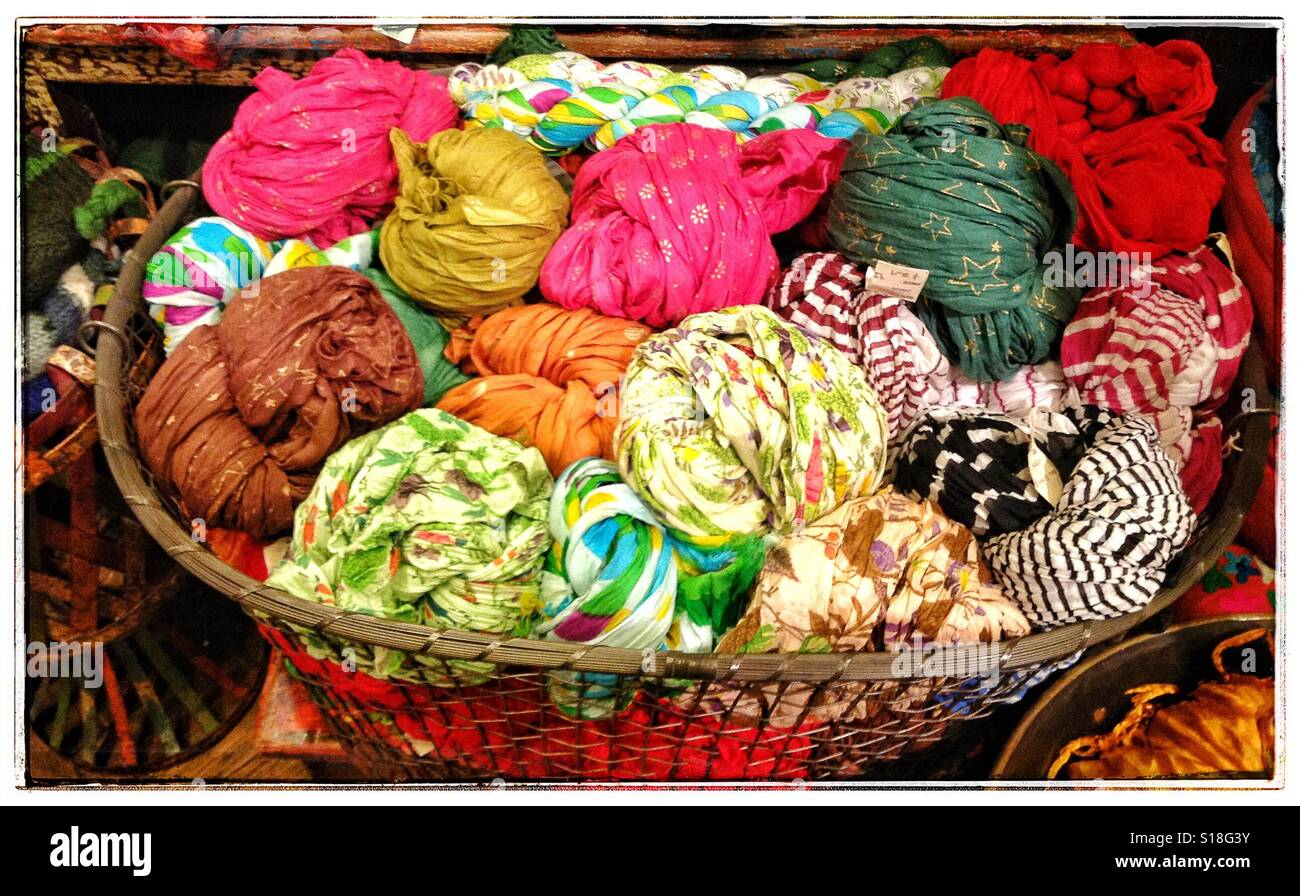 Colorful Scarves - Stock Image