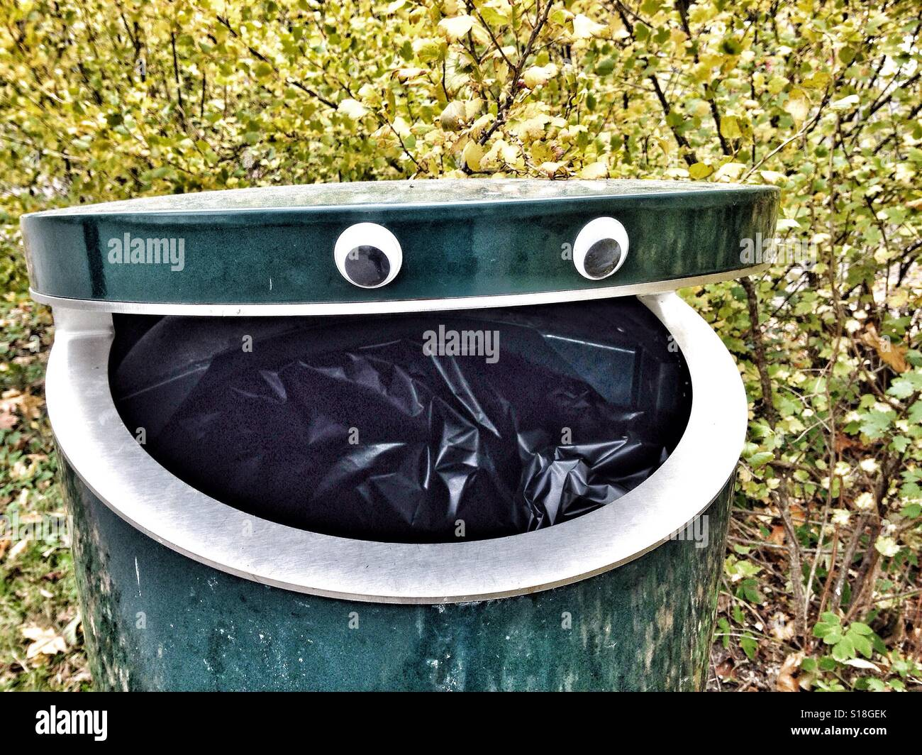 Funny Garbage Can High Resolution Stock Photography And Images Alamy