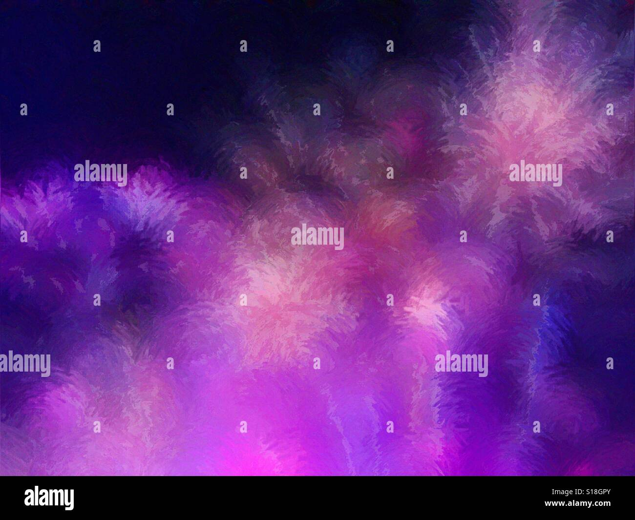 An abstract digital painting from a photograph of fireworks. - Stock Image