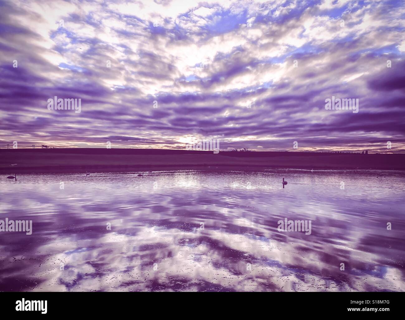 Reflections on water - Stock Image