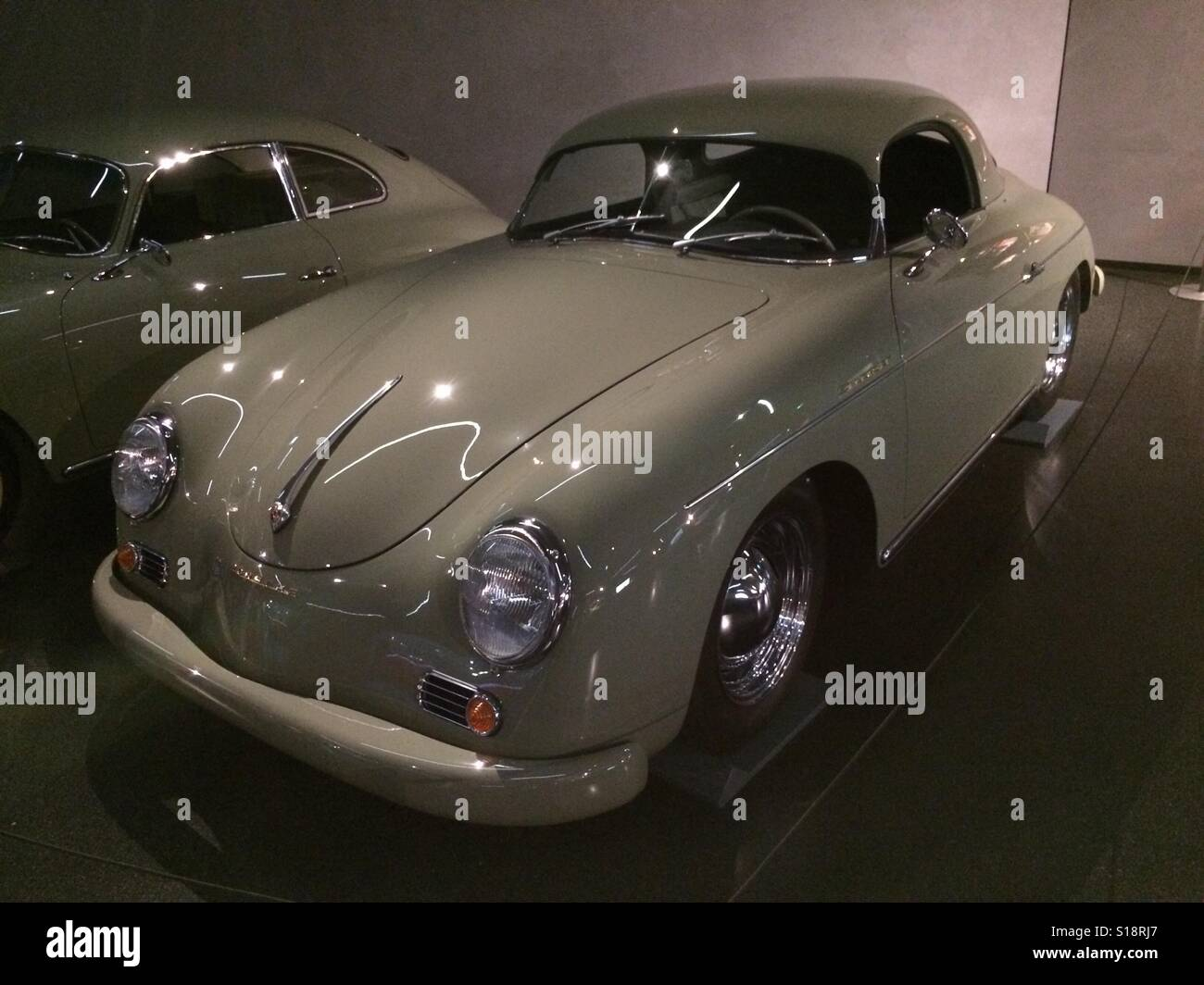 Porsche car on display in Germany. - Stock Image