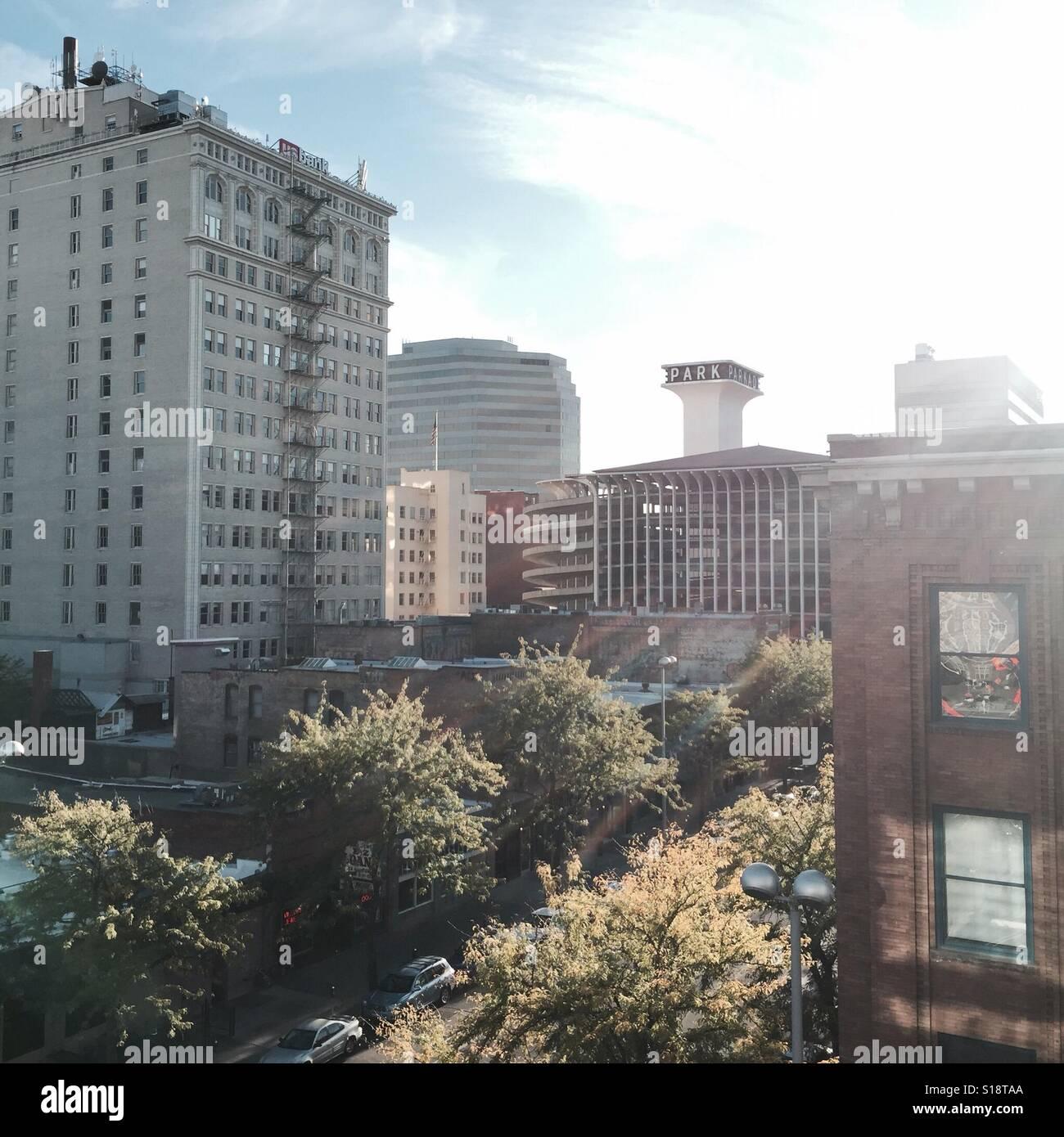 Downtown - Spokane, Washington Stock Photo