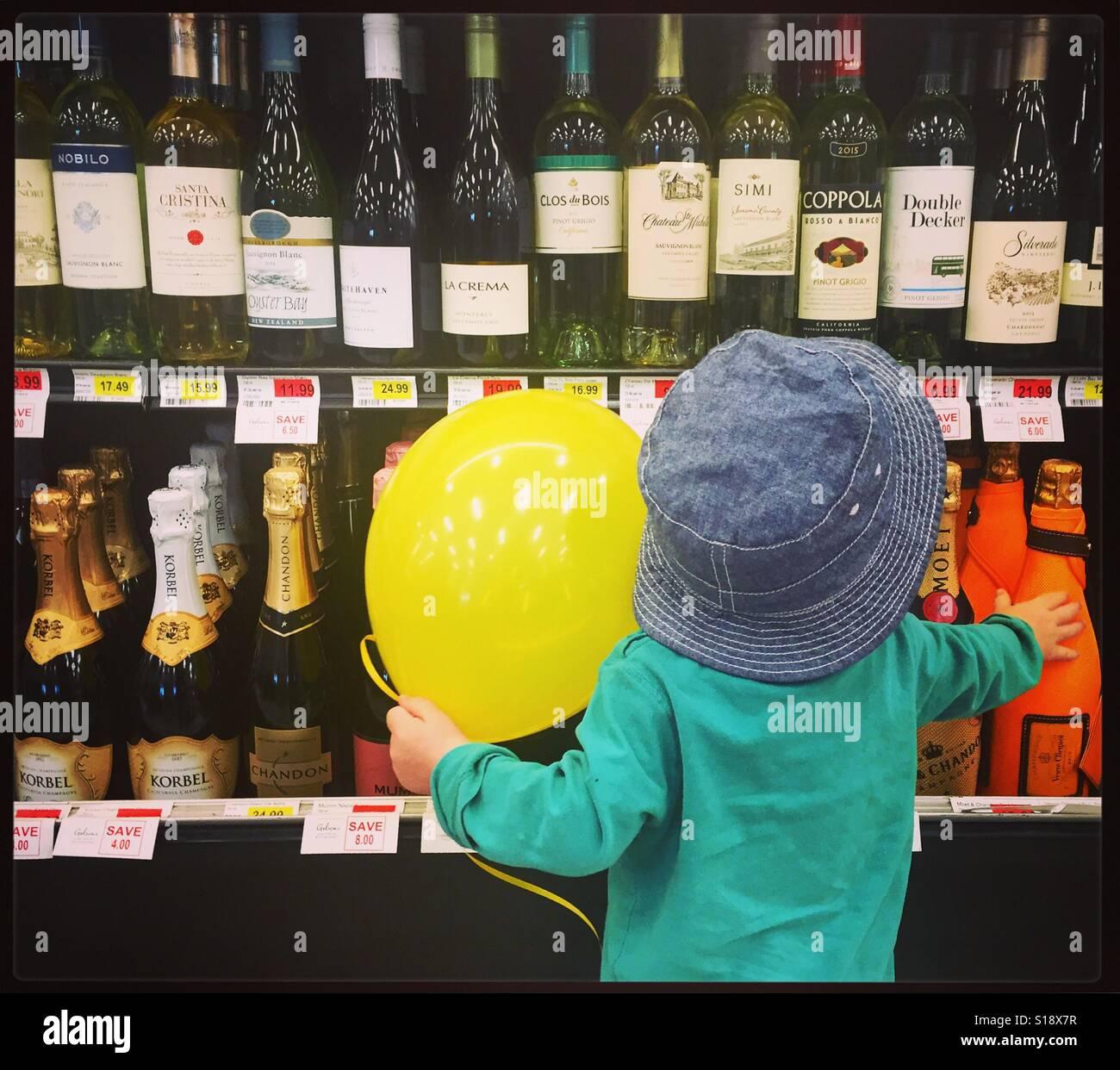 Underage drinking - Stock Image