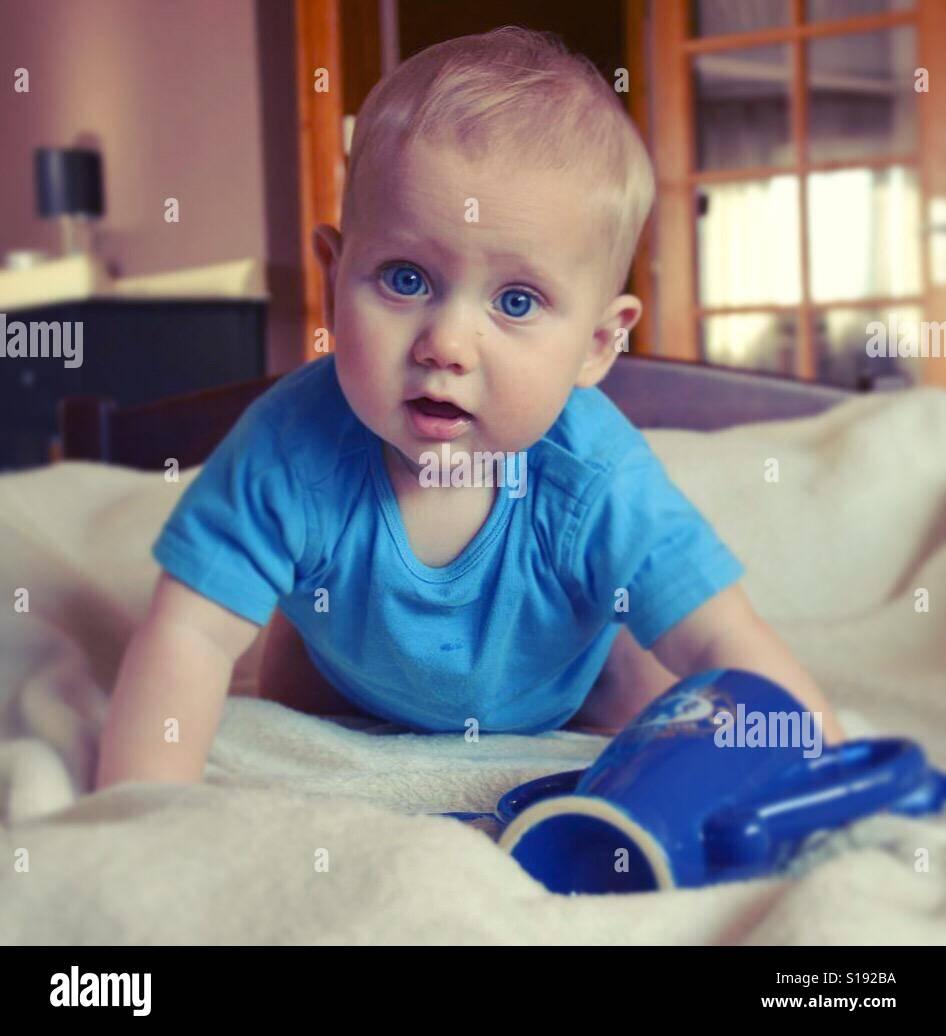 Baby boy - Stock Image