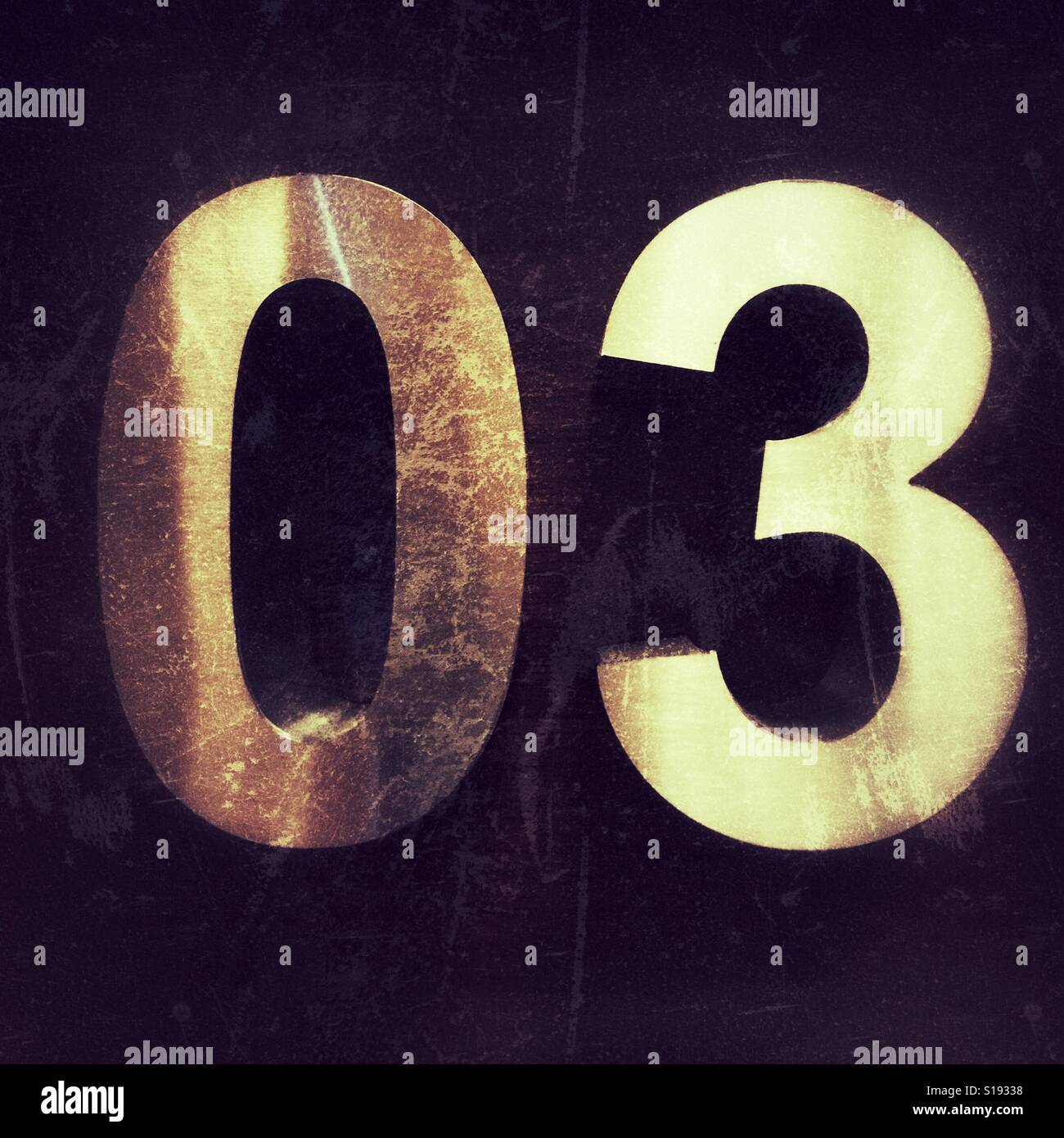Number 3 - Three numeral - Stock Image