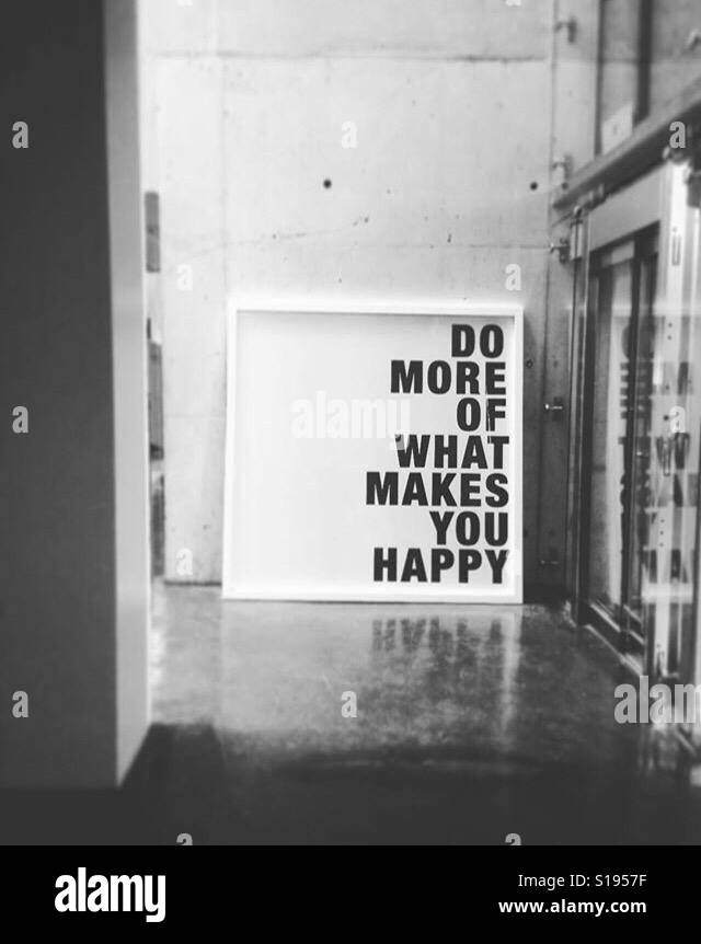 Do more, be happy. - Stock Image