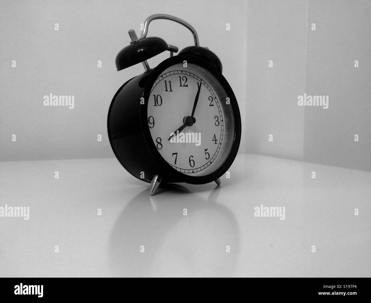 Tick tock goes the clock - Stock Image