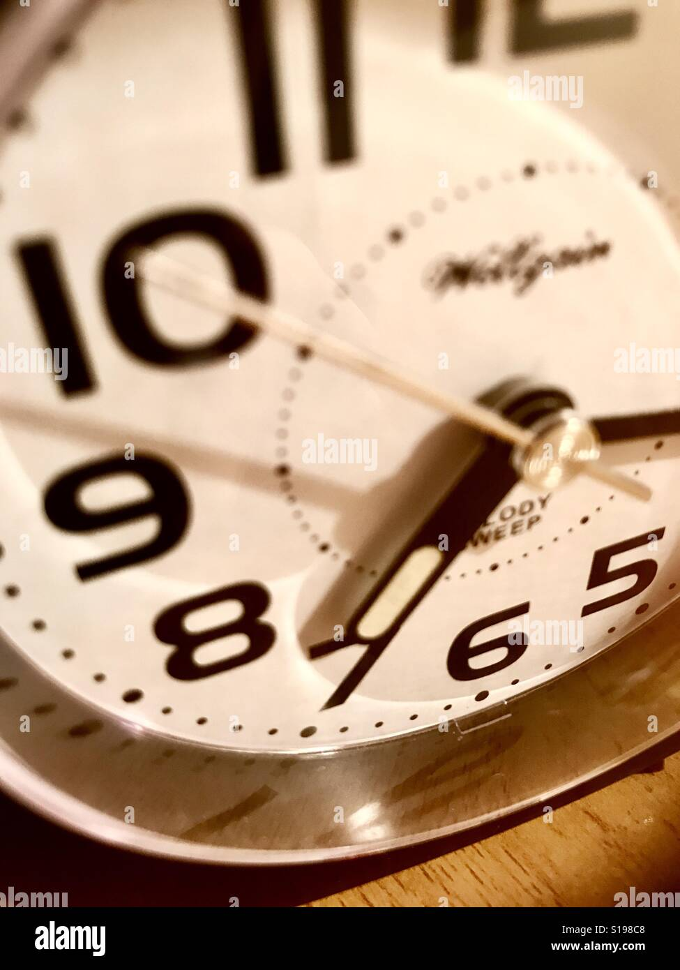 Clock. Close view. - Stock Image