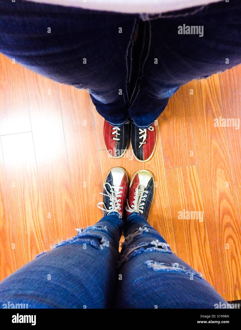 Bowling Shoes - Stock Image