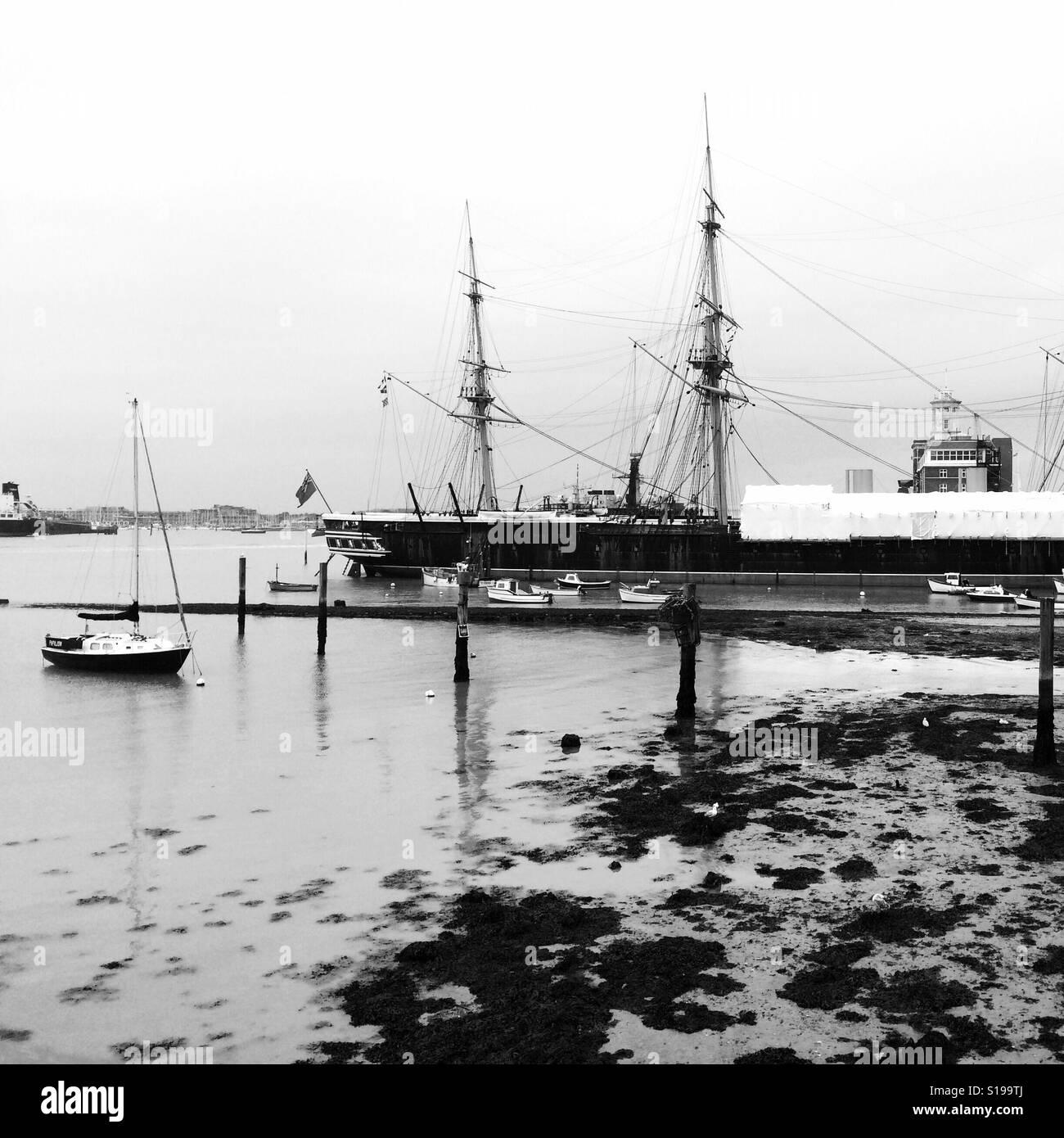 Portsmouth docks Stock Photo
