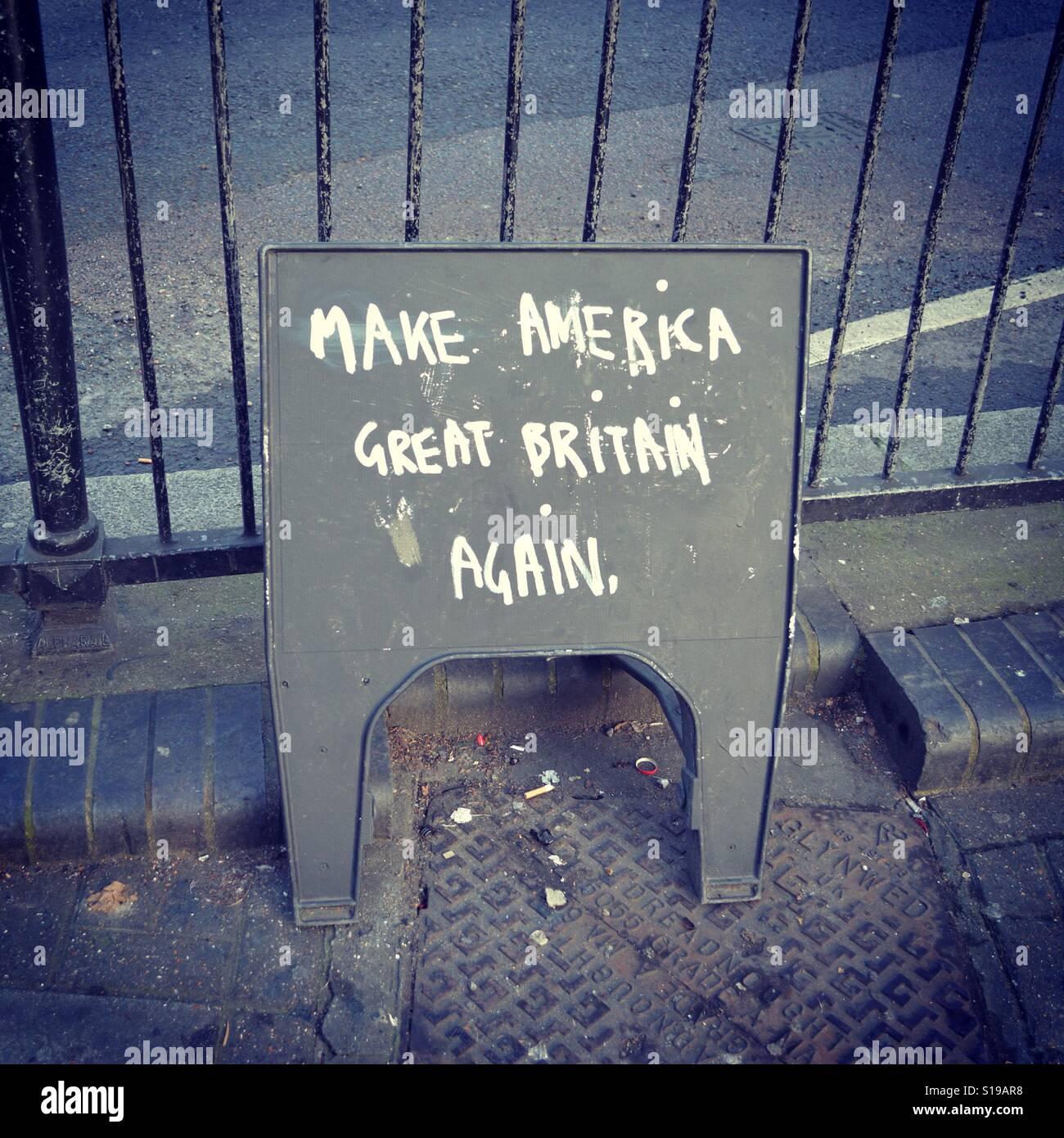 Make America Great Britain Again - Stock Image