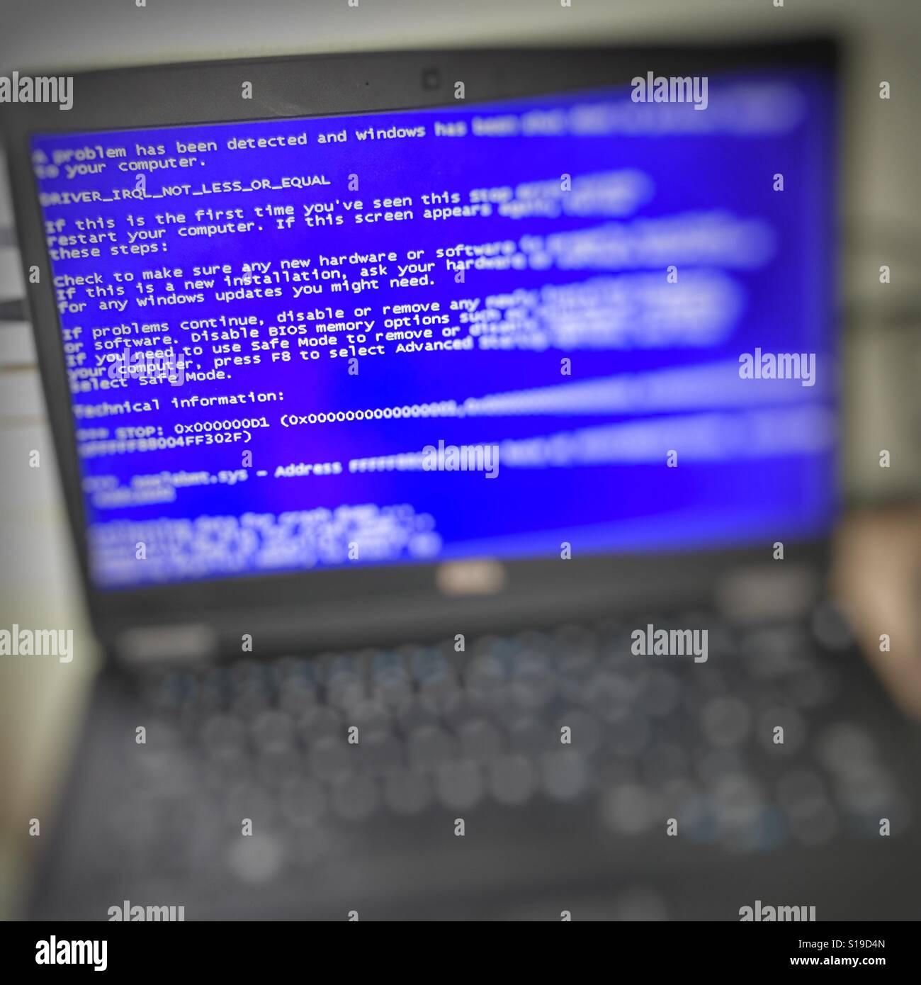 Personal computer crash - Stock Image