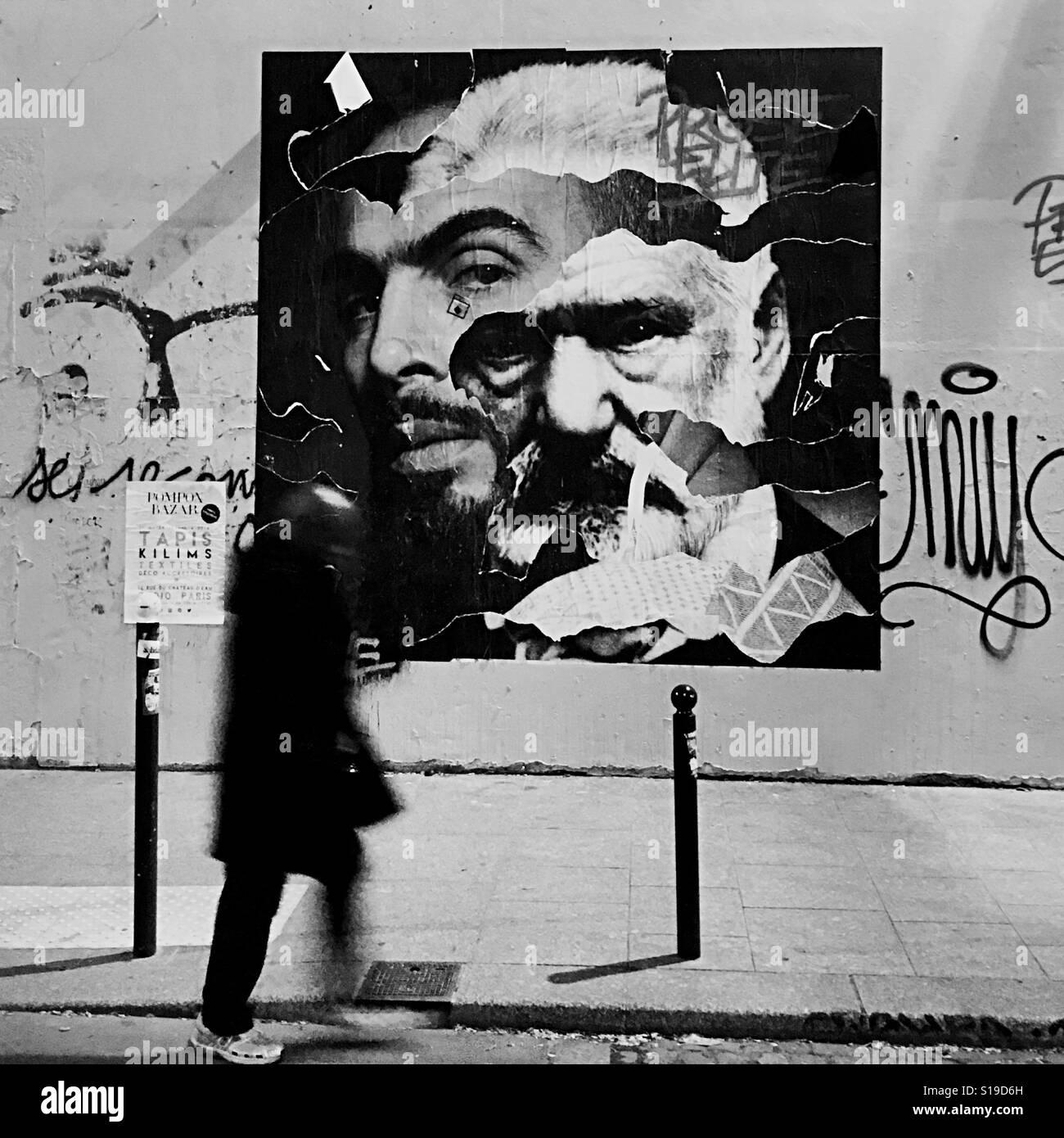 Graffiti Collage In The 10th Arrondissement Of Paris