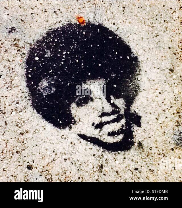 Michael Jackson graffiti, Los Angeles Stock Photo