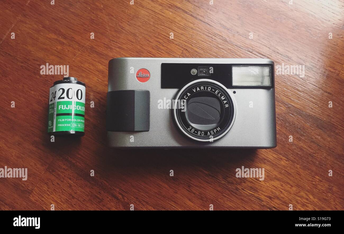 Leica C3 and undeveloped film - Stock Image