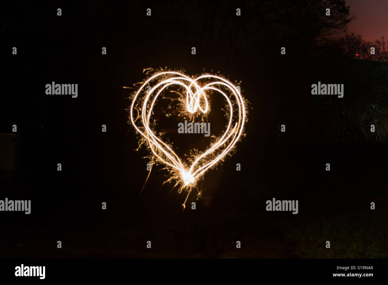 Love in the darkness - Stock Image