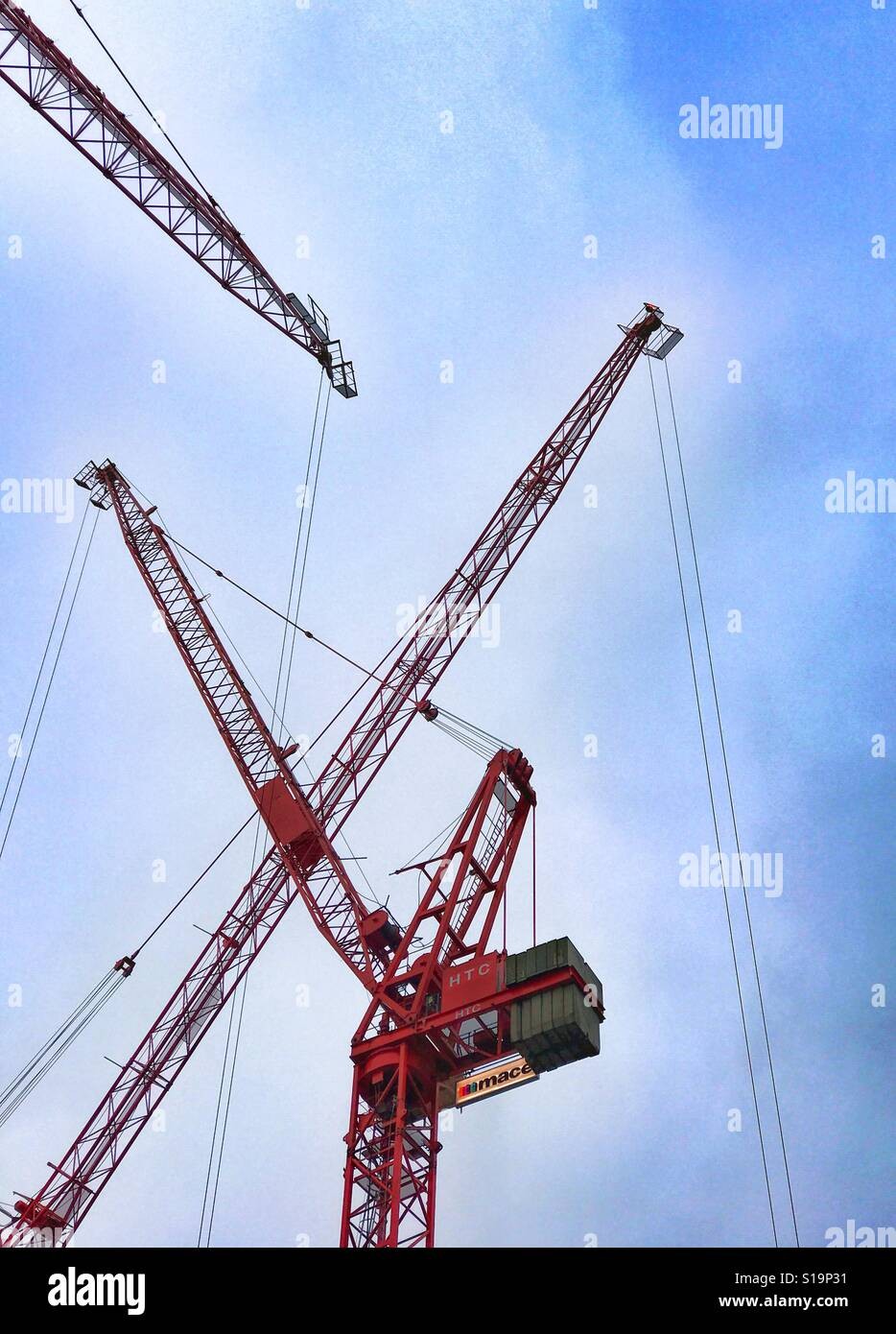 Construction cranes - Stock Image