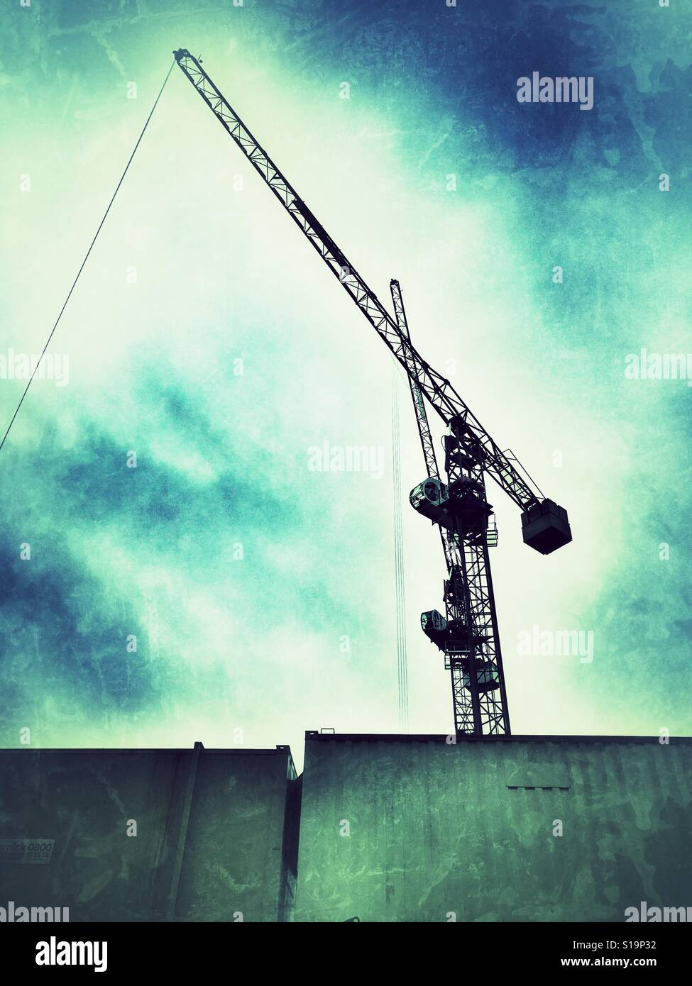 A construction crane in London - Stock Image