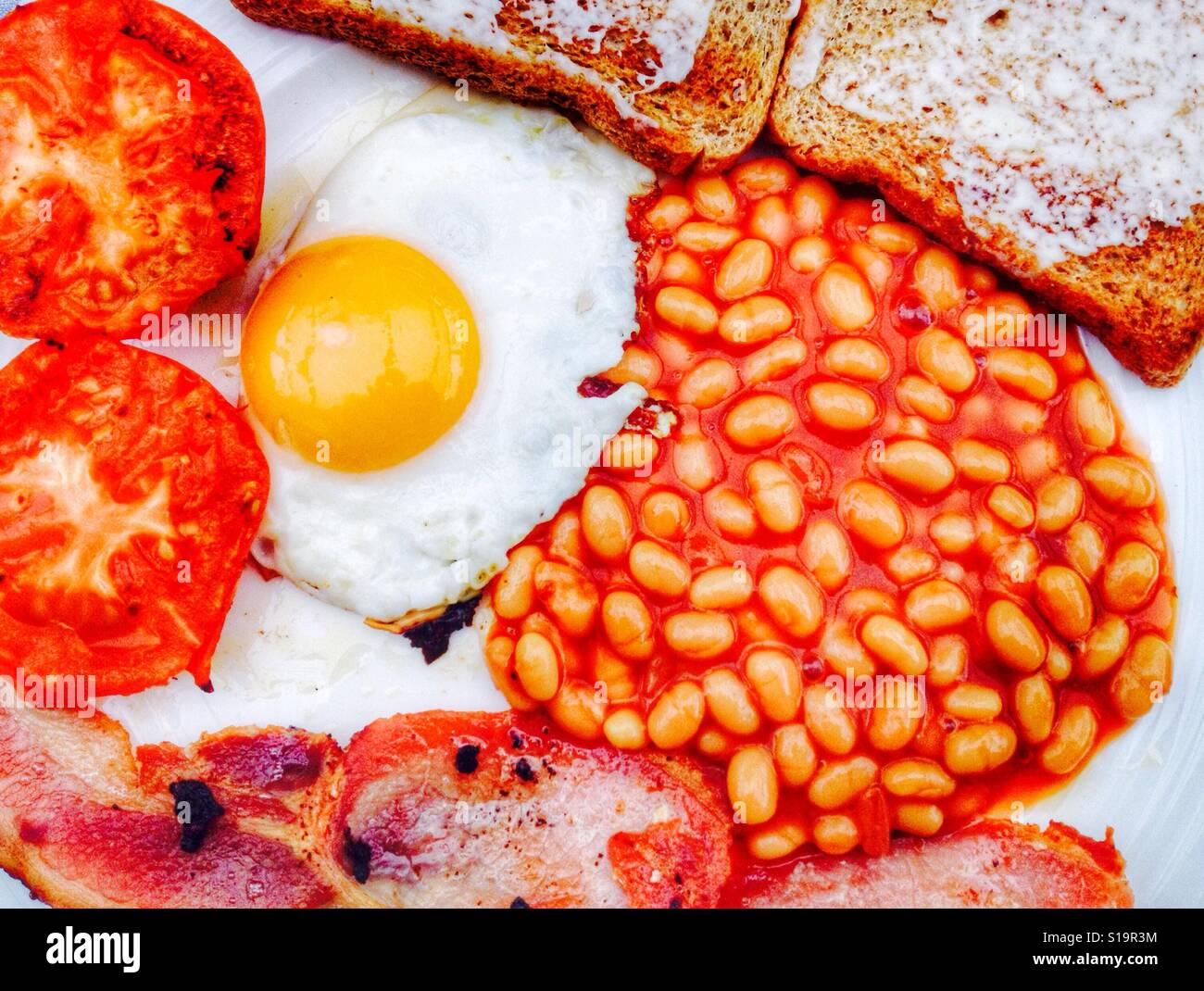 Fried English breakfast - Stock Image