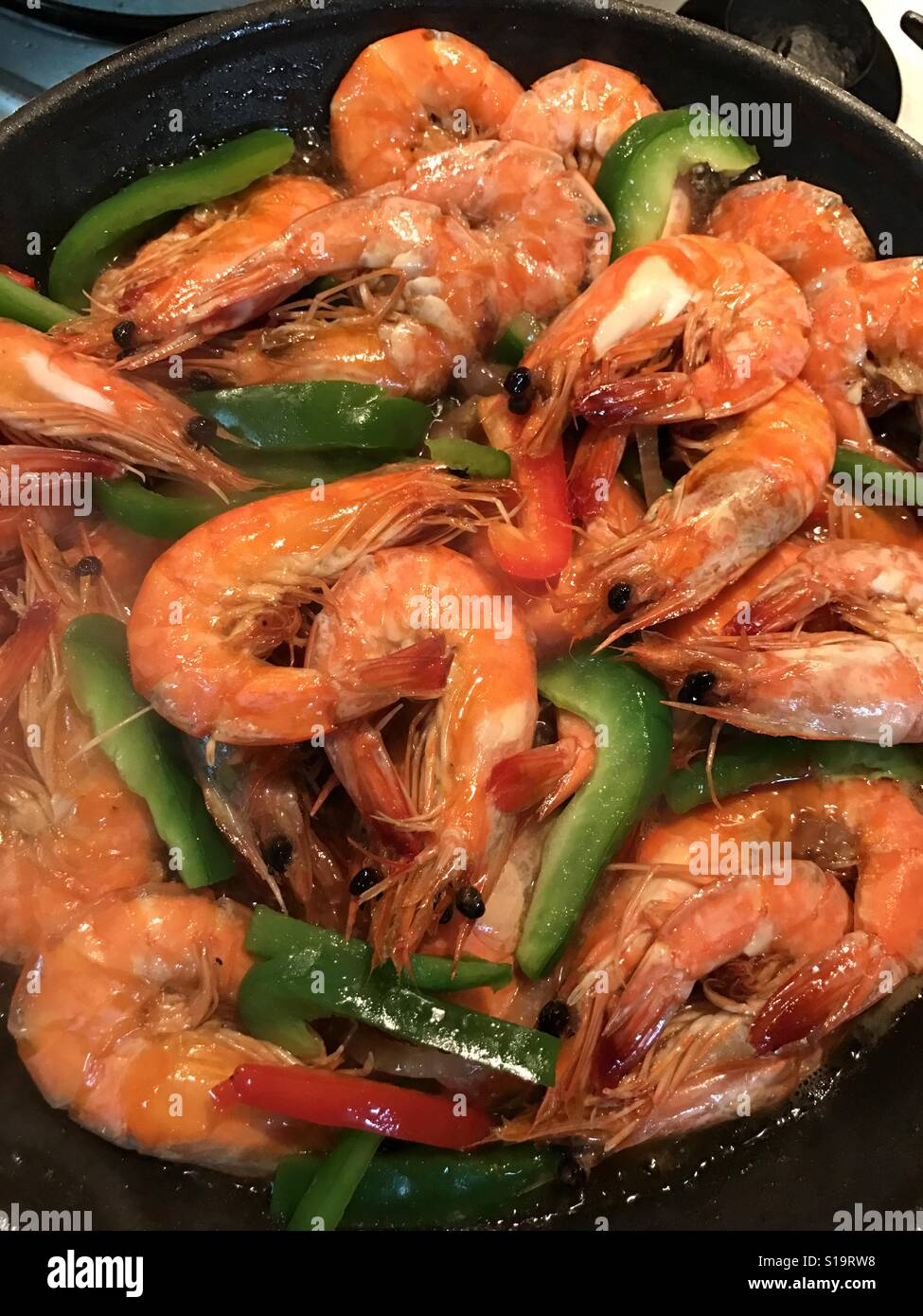 Tasty Shrimp - Stock Image