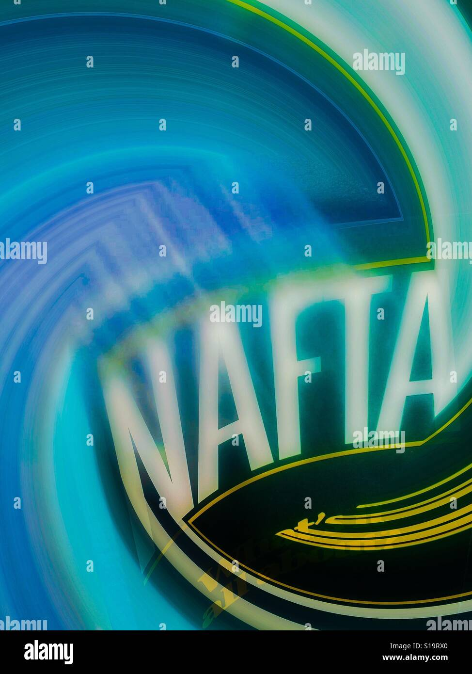 Nafta in a flux Stock Photo
