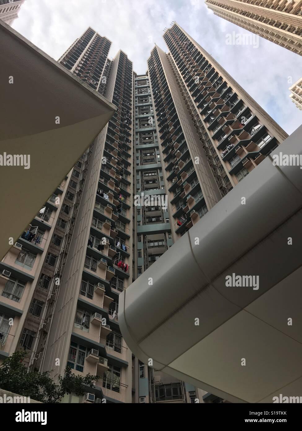 Public Housing Yau Tong Hong Kong - Stock Image