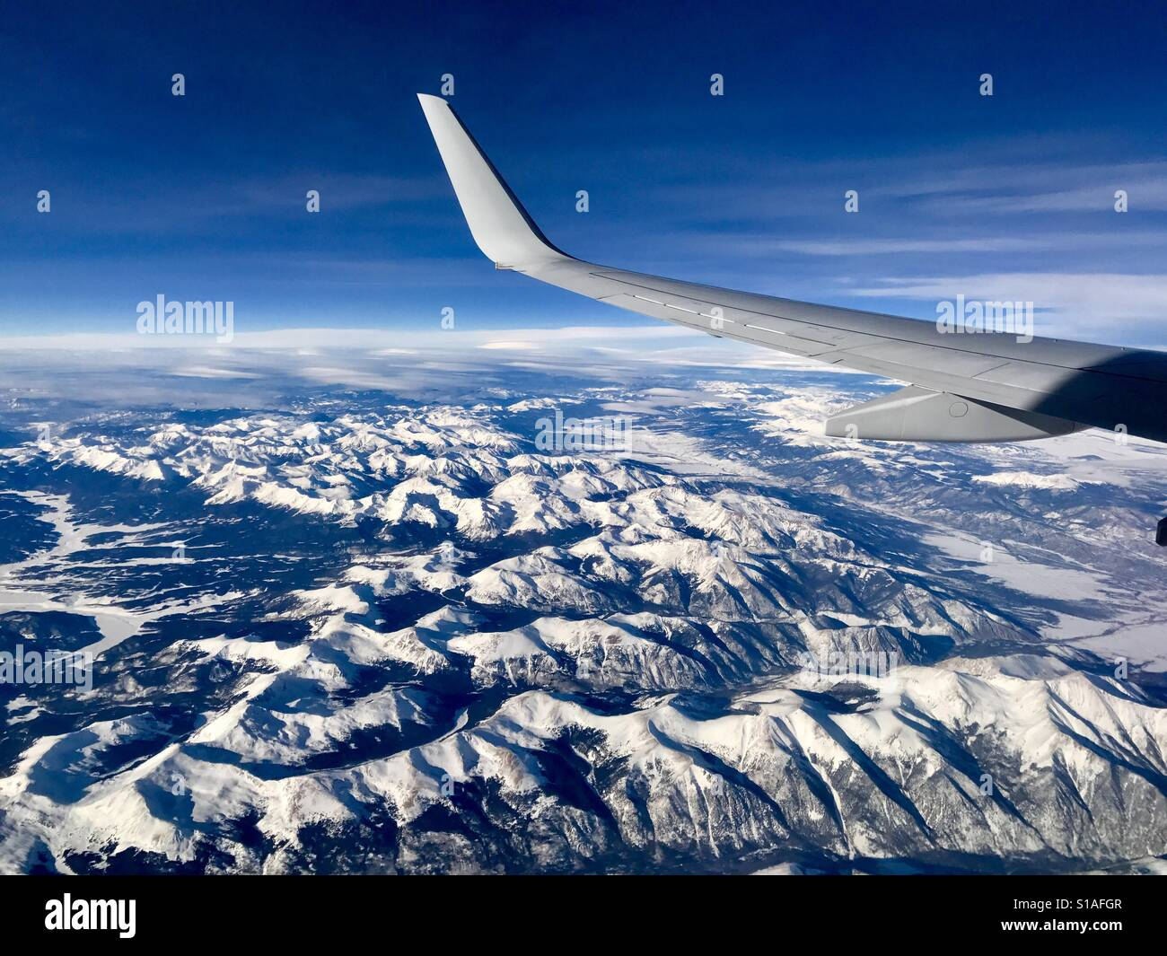 Window seat please - aerial view of Salida Co canyons - Stock Image