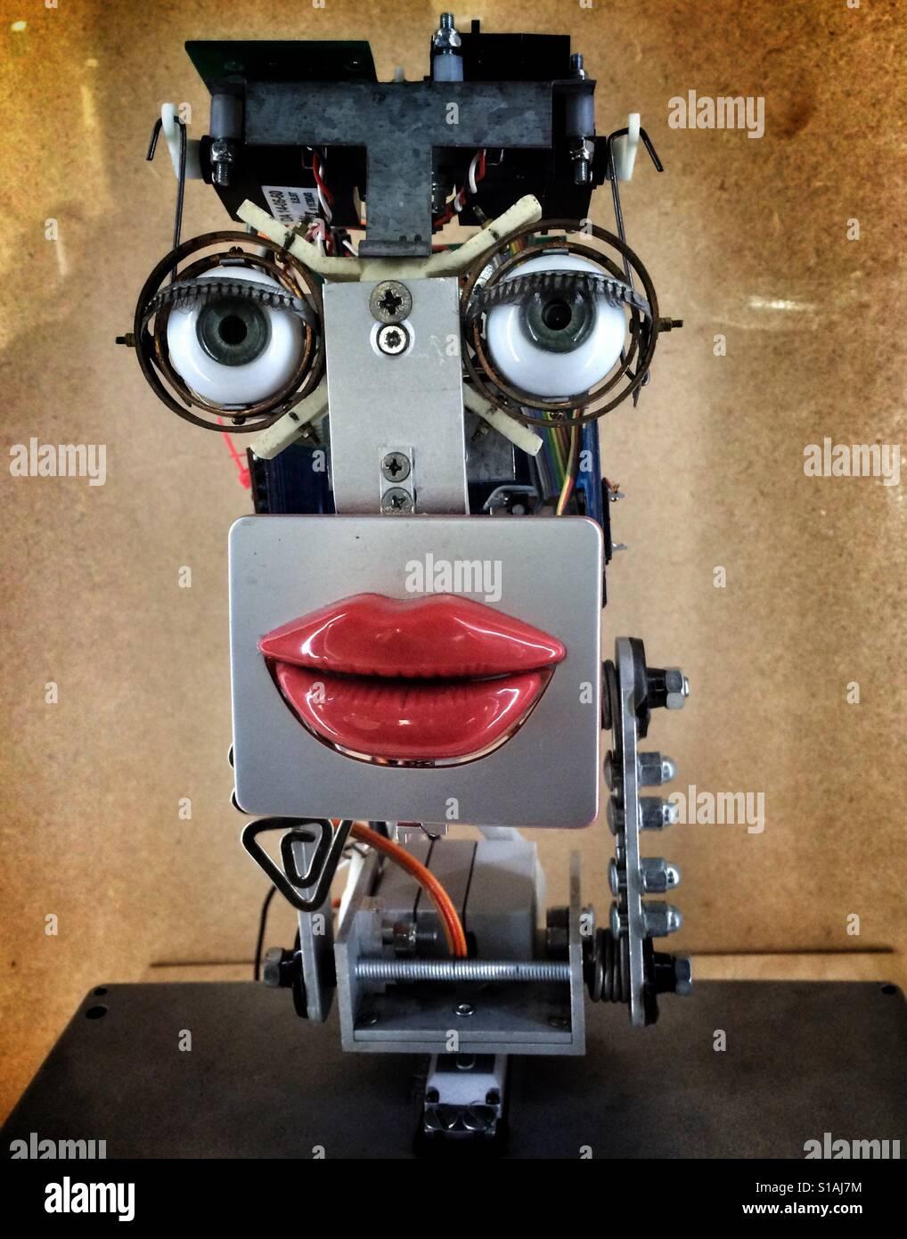 Funny robot head - Stock Image