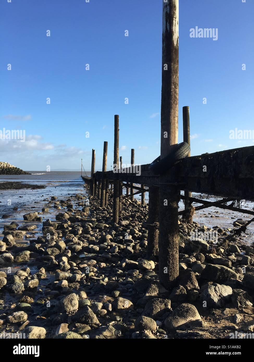 Rhos On Sea Promenade, North Wales - Stock Image