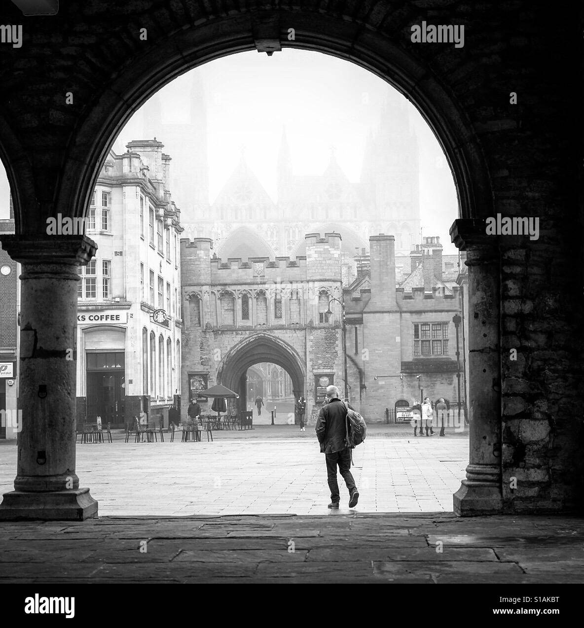 Cathedral Square, Peterborough, Cambridgeshire. England - Stock Image