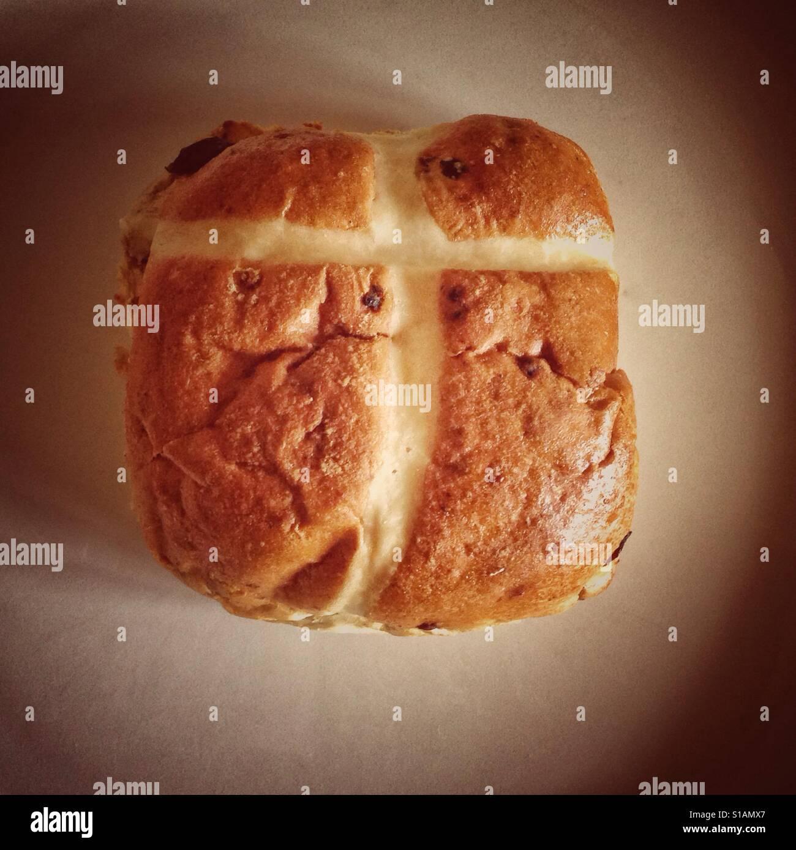 Old favourite.Hot Cross Bun. - Stock Image