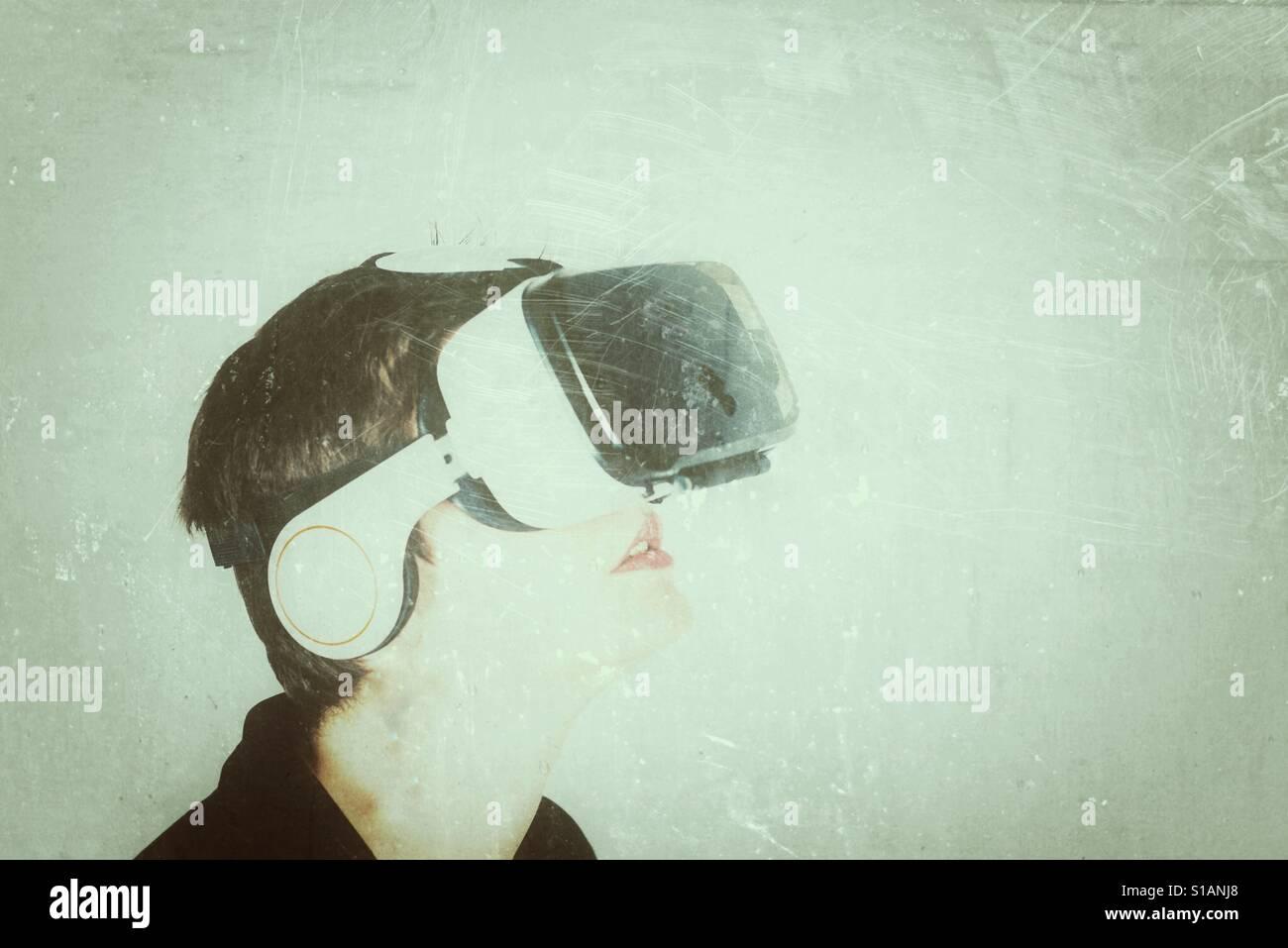 VR virtual reality - Stock Image