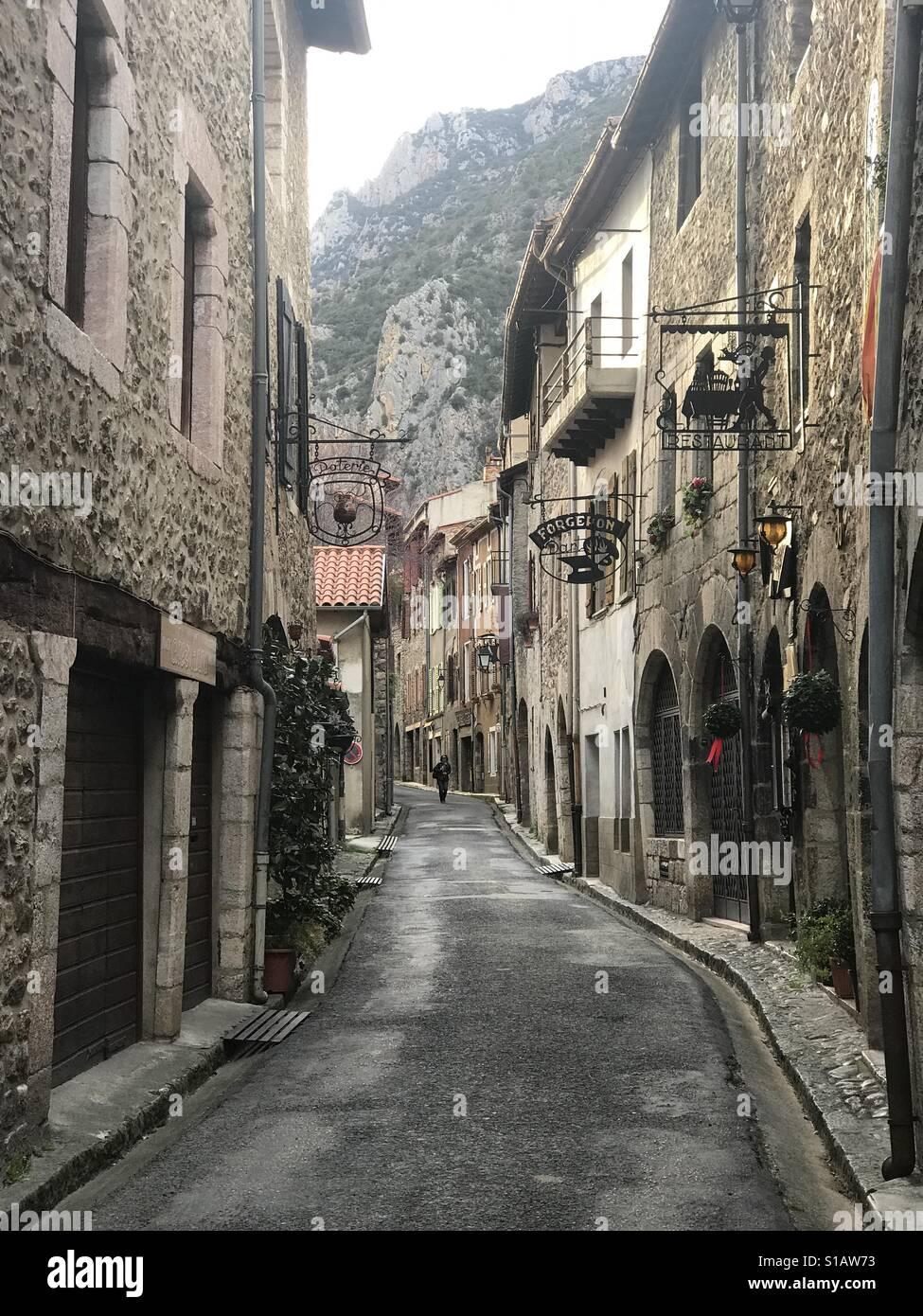 Villefranche de Conflent, midi Pyrenees, France - Stock Image