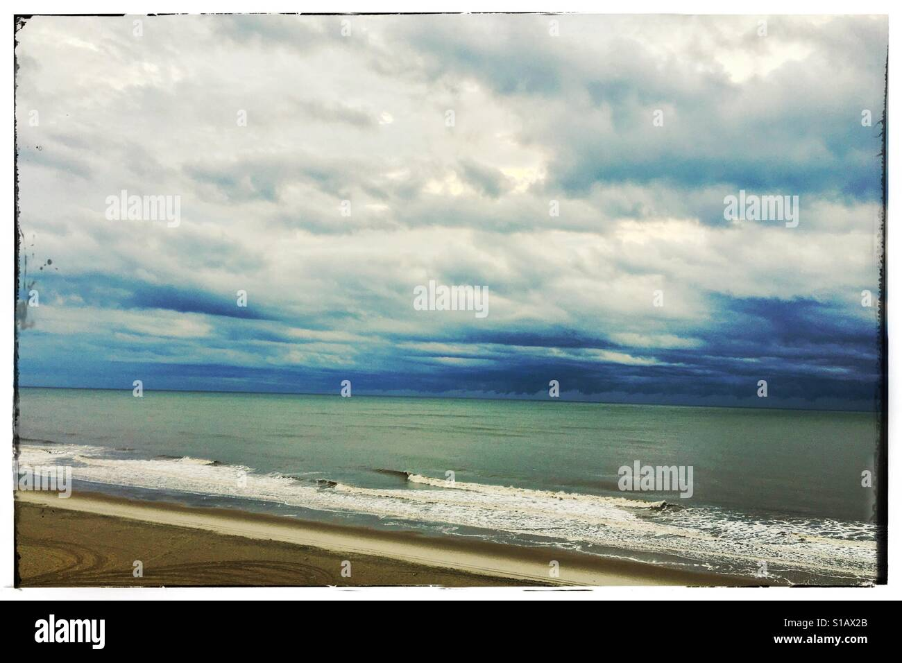 Clouds over the ocean - Stock Image