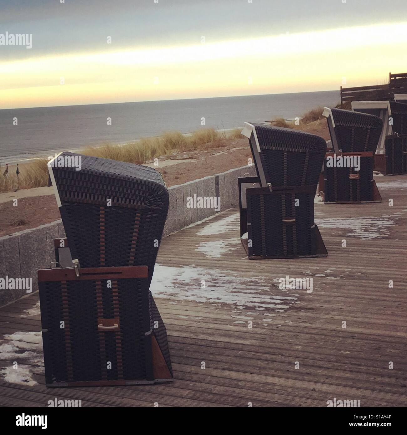 Strandkörbe auf Sylt (2017) - Stock Image