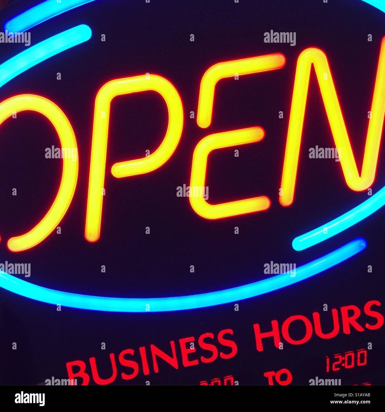Business hours by K.R. - Stock Image