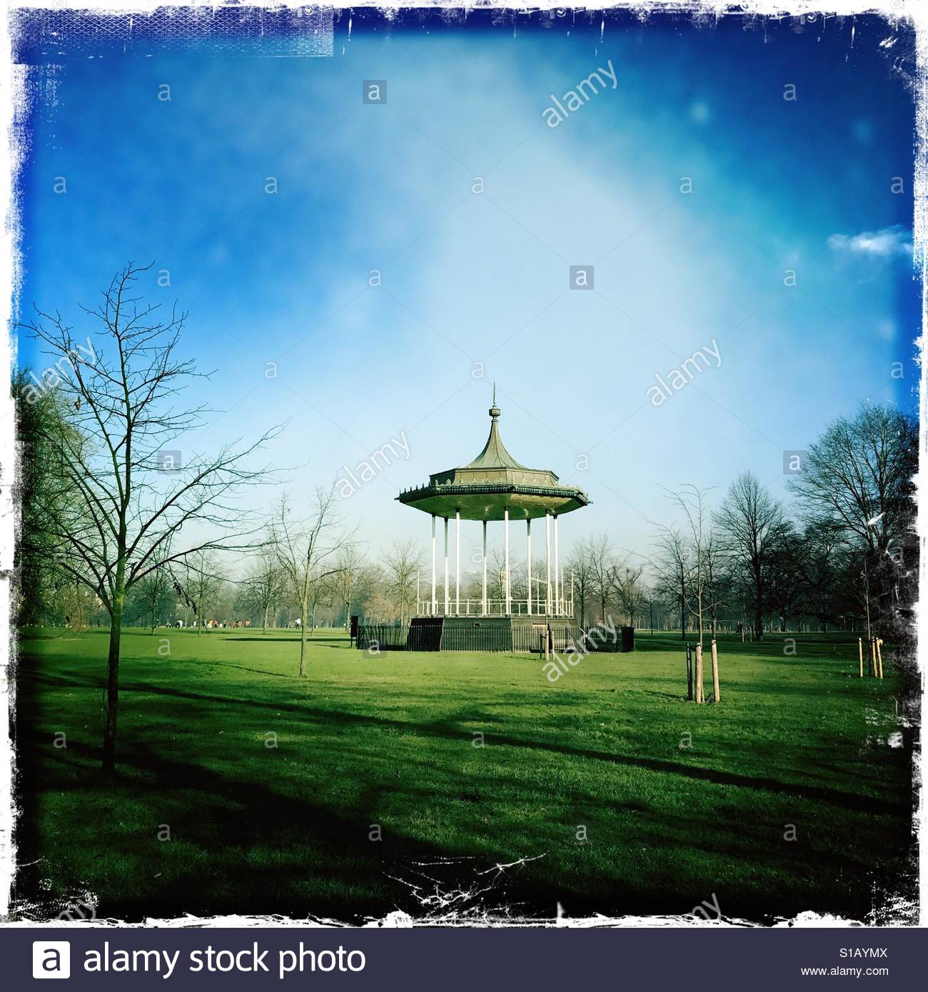 Bandstand in St James park - Stock Image