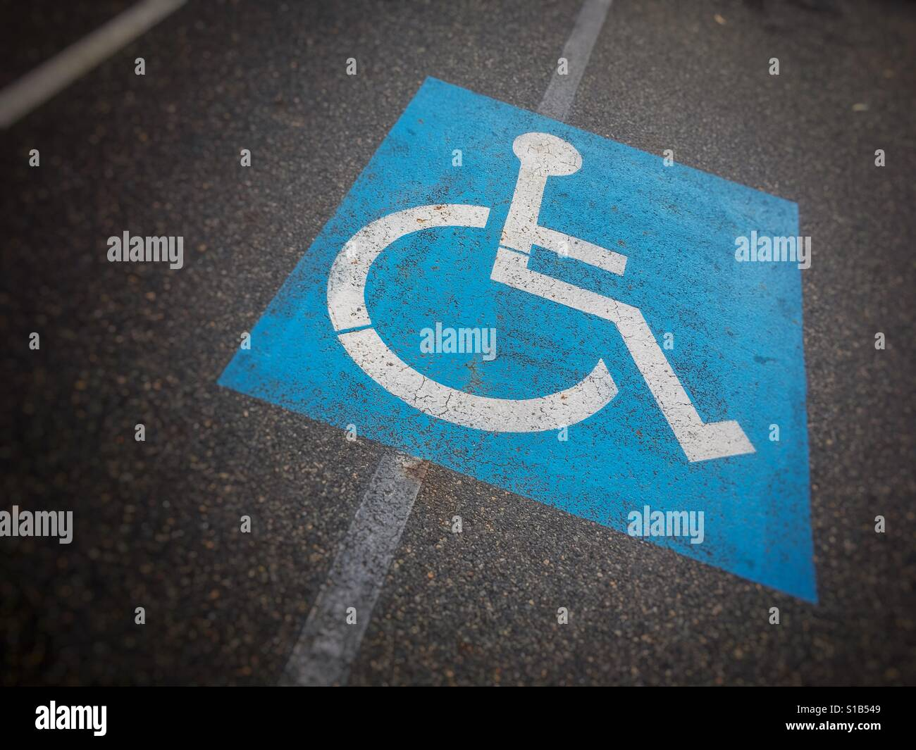 Disabled parking space. - Stock Image