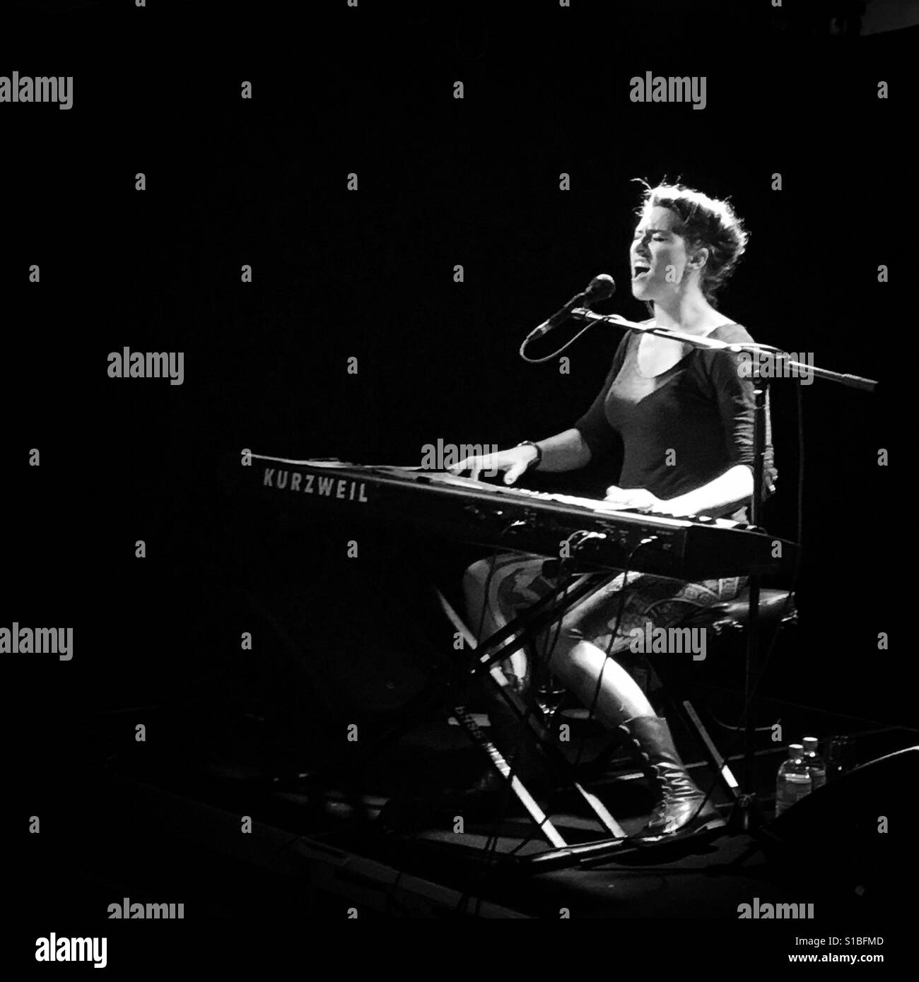 Amanda Palmer performs in Melbourne - Stock Image