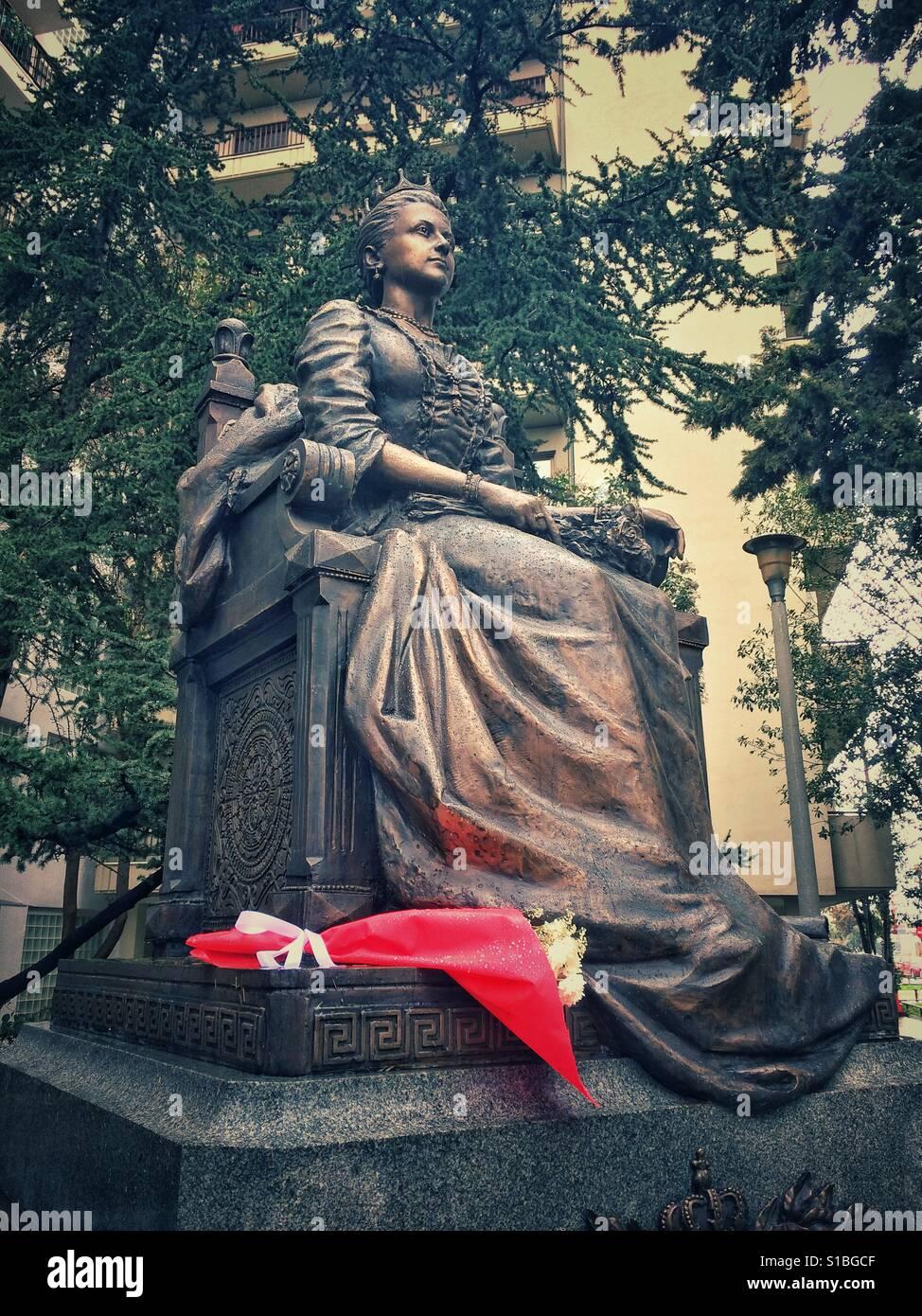 Statue of Queen Olga in Thessaloniki, Greece Stock Photo