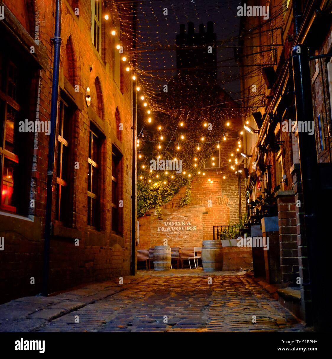 Entrance to Queens Court in Leeds, West Yorkshire. - Stock Image