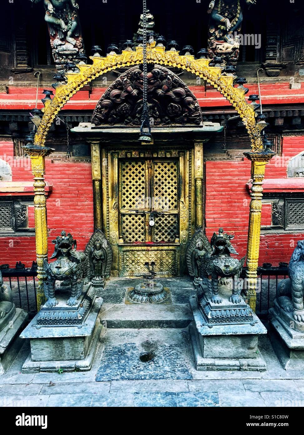 Temple in Kathmandu, Nepal - Stock Image