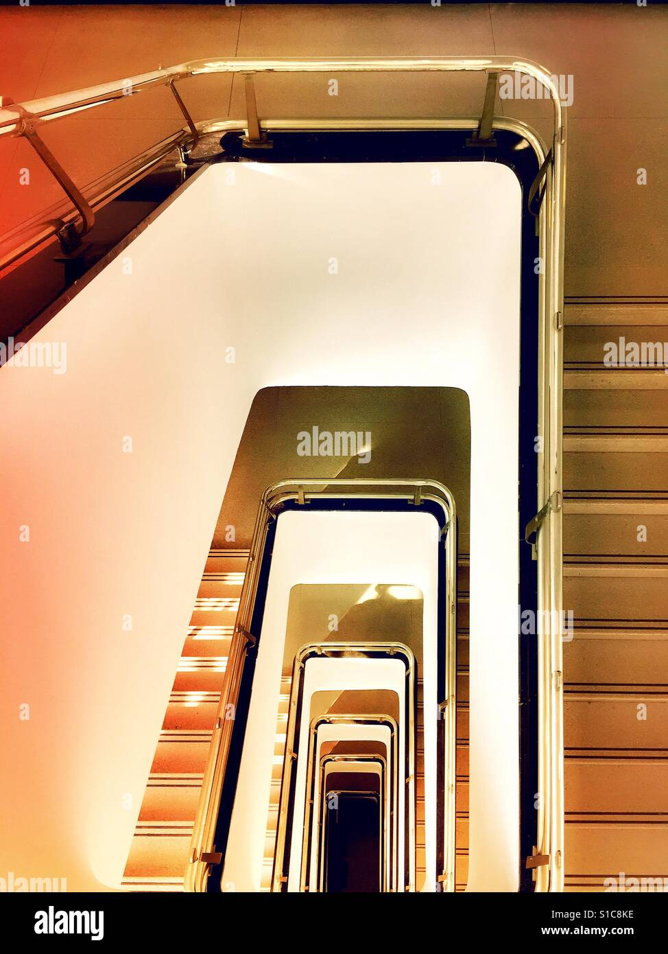 Stairwell in multi story building USA - Stock Image