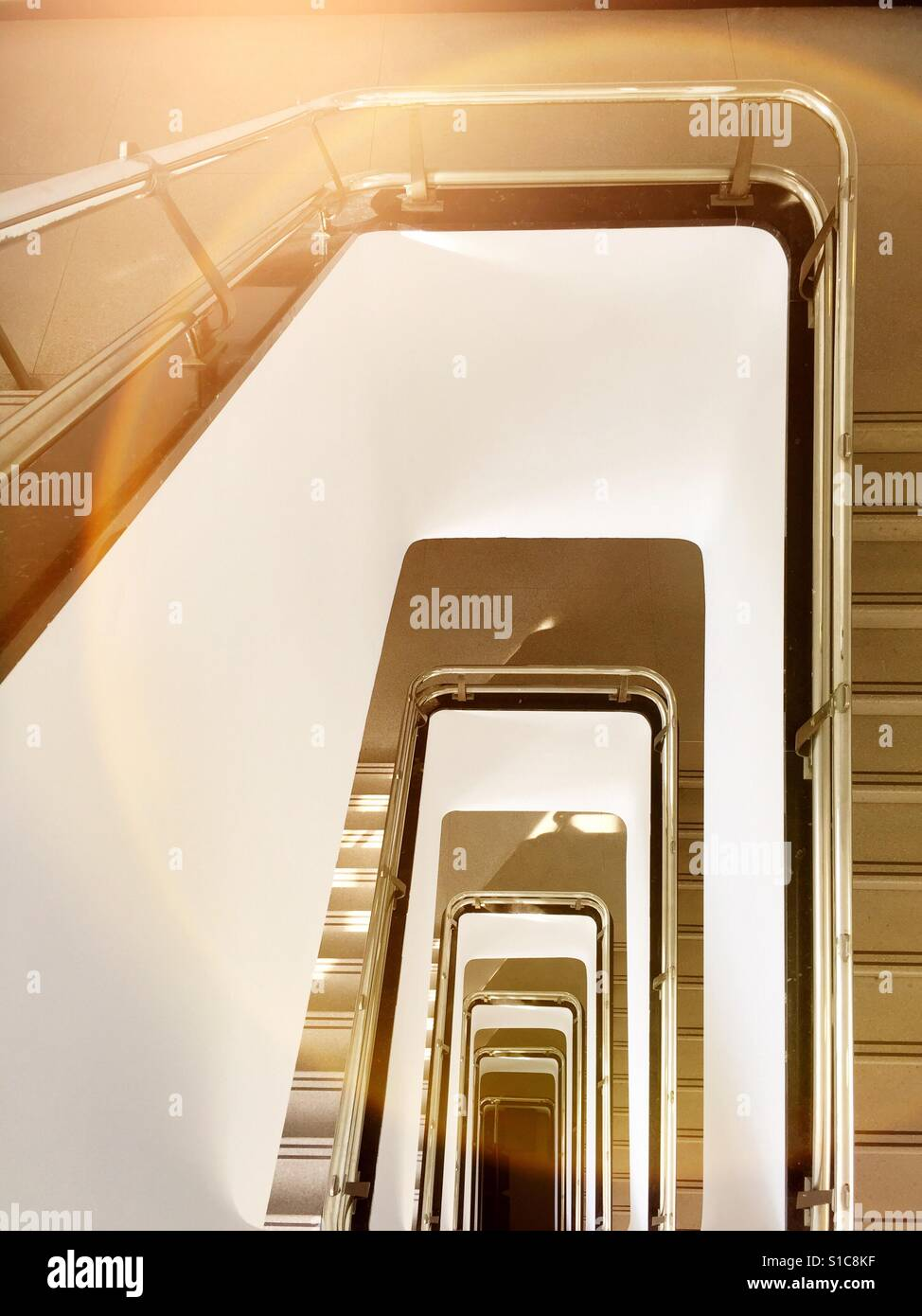 Stairwell of multi story building, USA - Stock Image