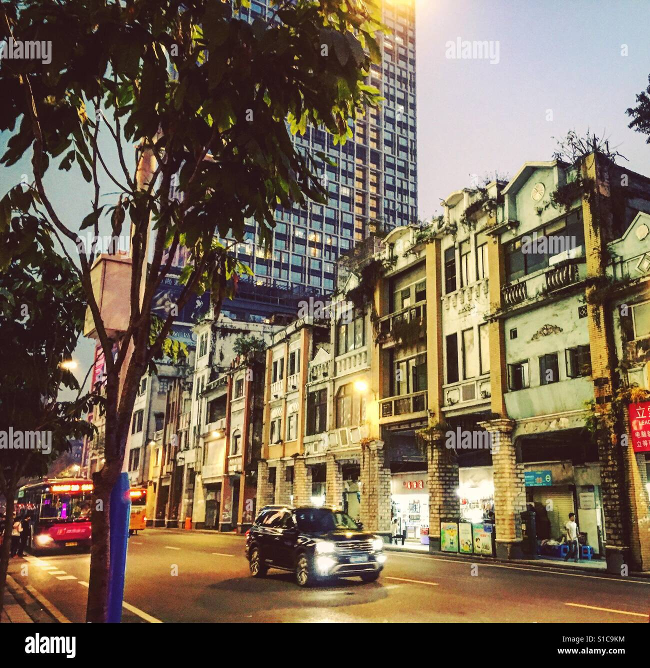 Old buildings in Guangzhou - Stock Image