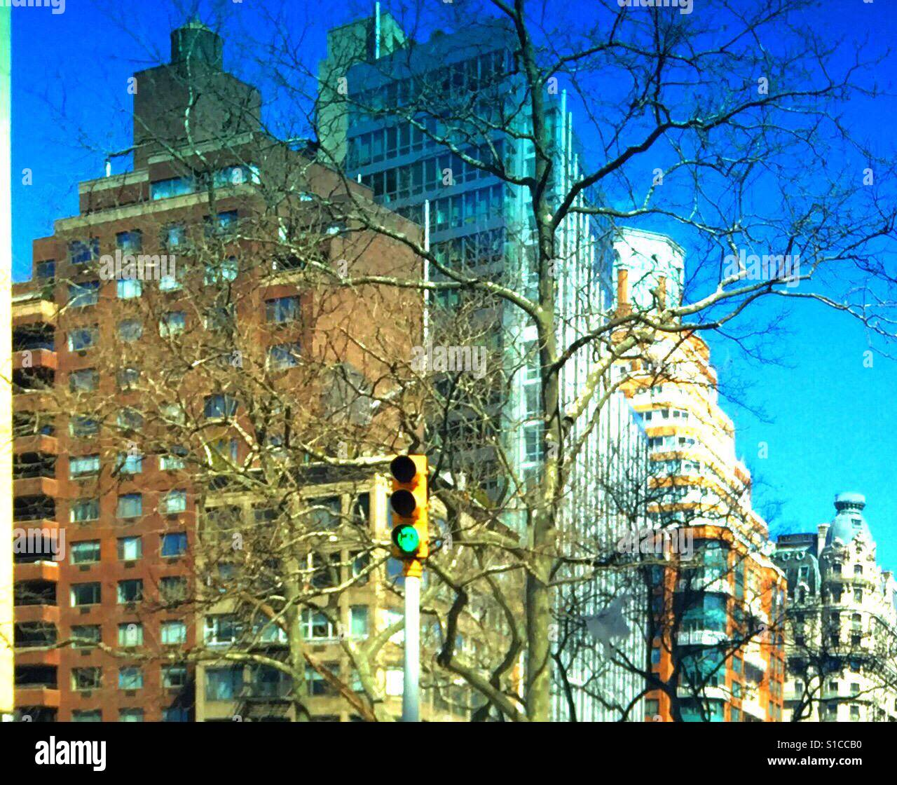 Layers of New York - Stock Image