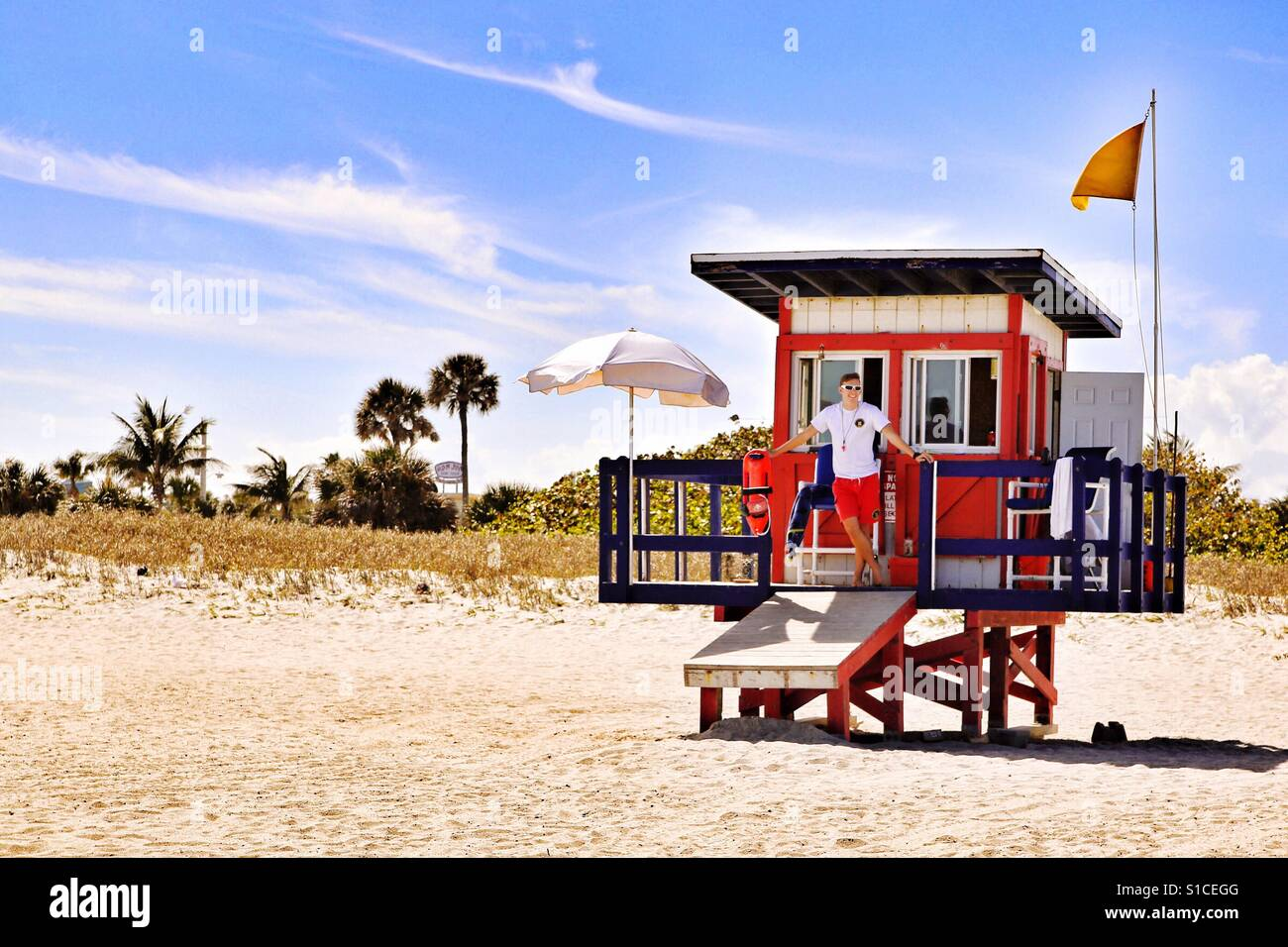 76f1d86610e3 Lifeguard shack Stock Photo  310676144 - Alamy